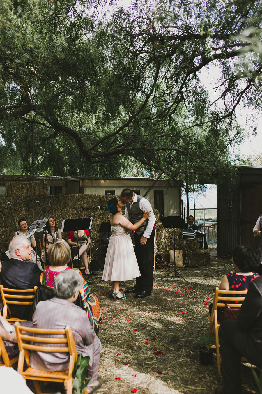 The wedding kiss PepperTree Place Coburg