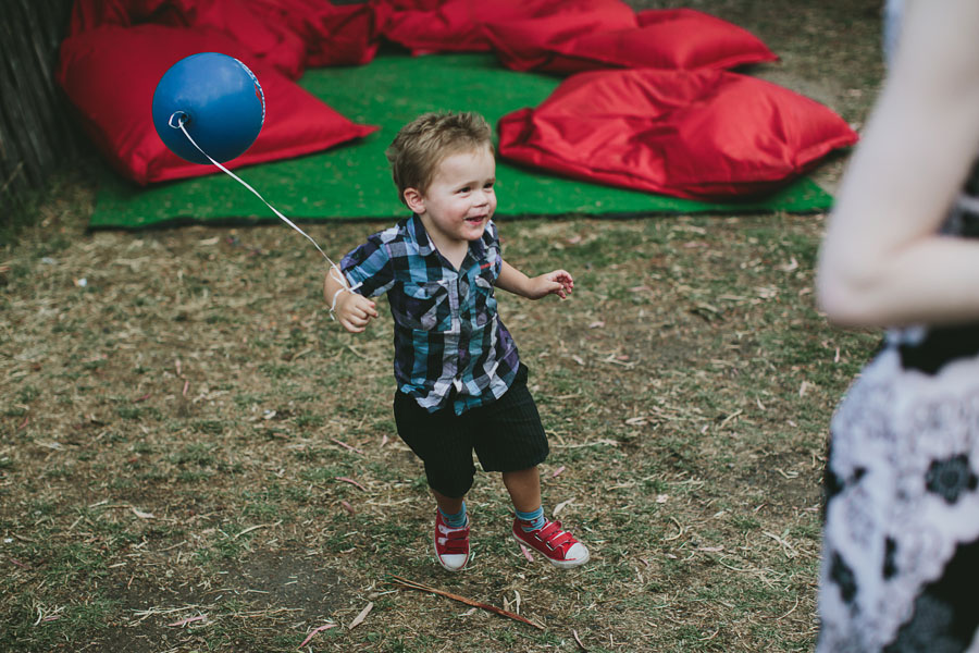 Boy balloon coburg peppertree place wedding