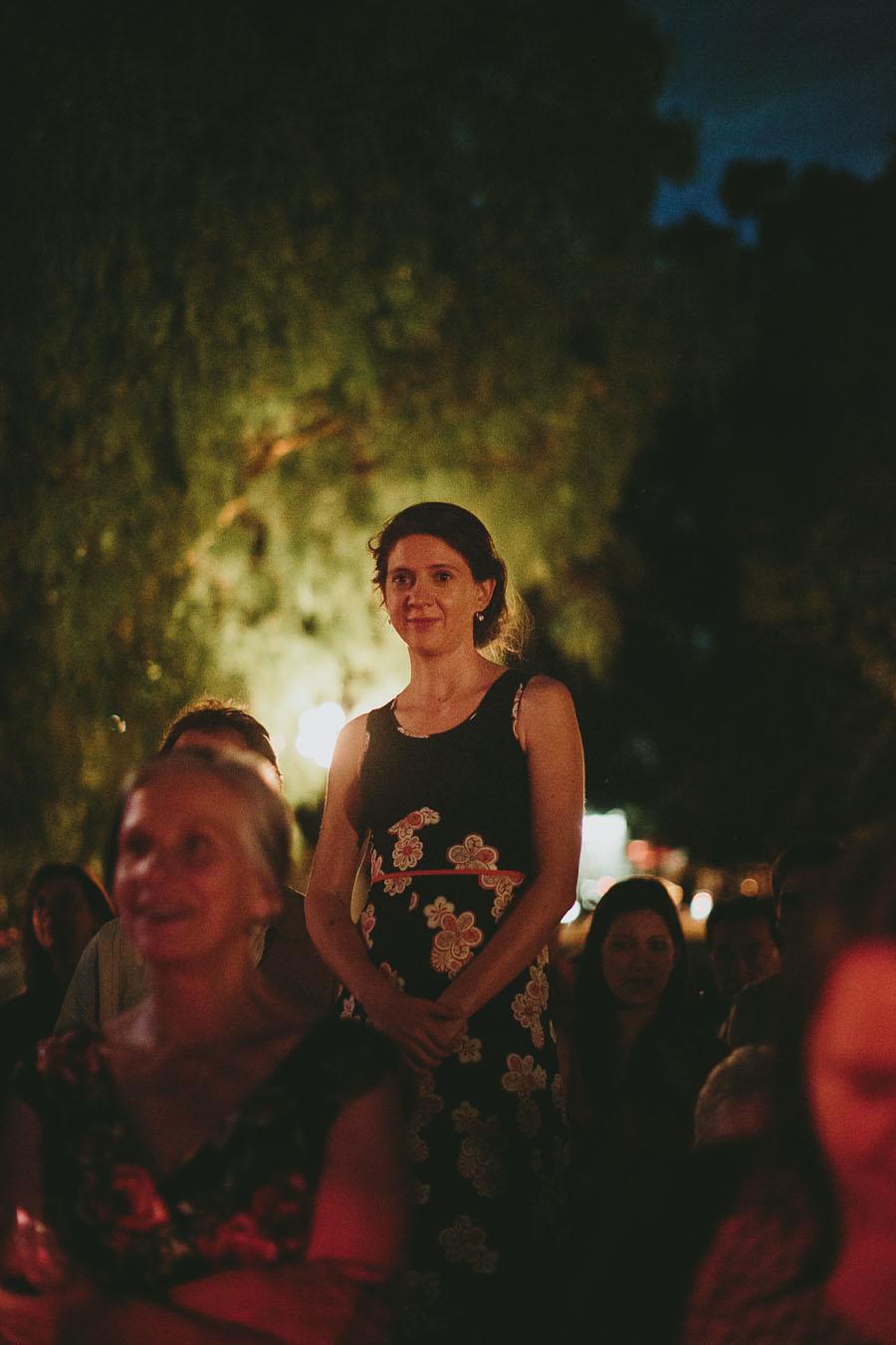 girl standing tall wedding speech peppertree place wedding coburg