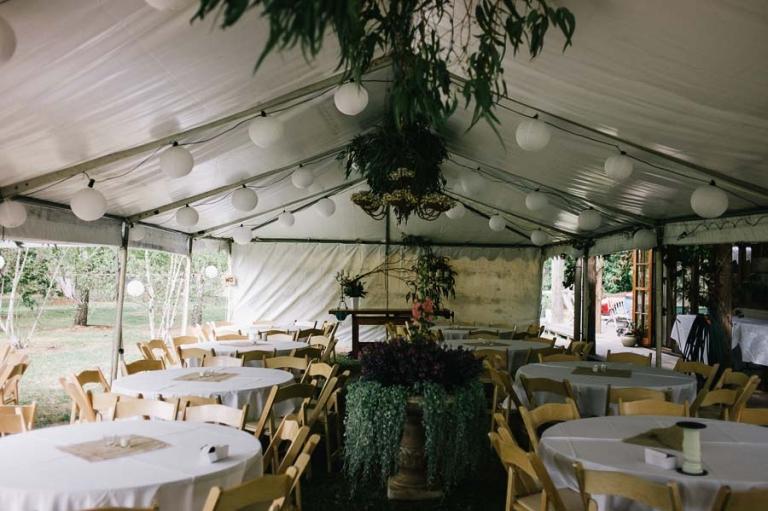 Reception setting at a Belgrave wedding near Melbourne
