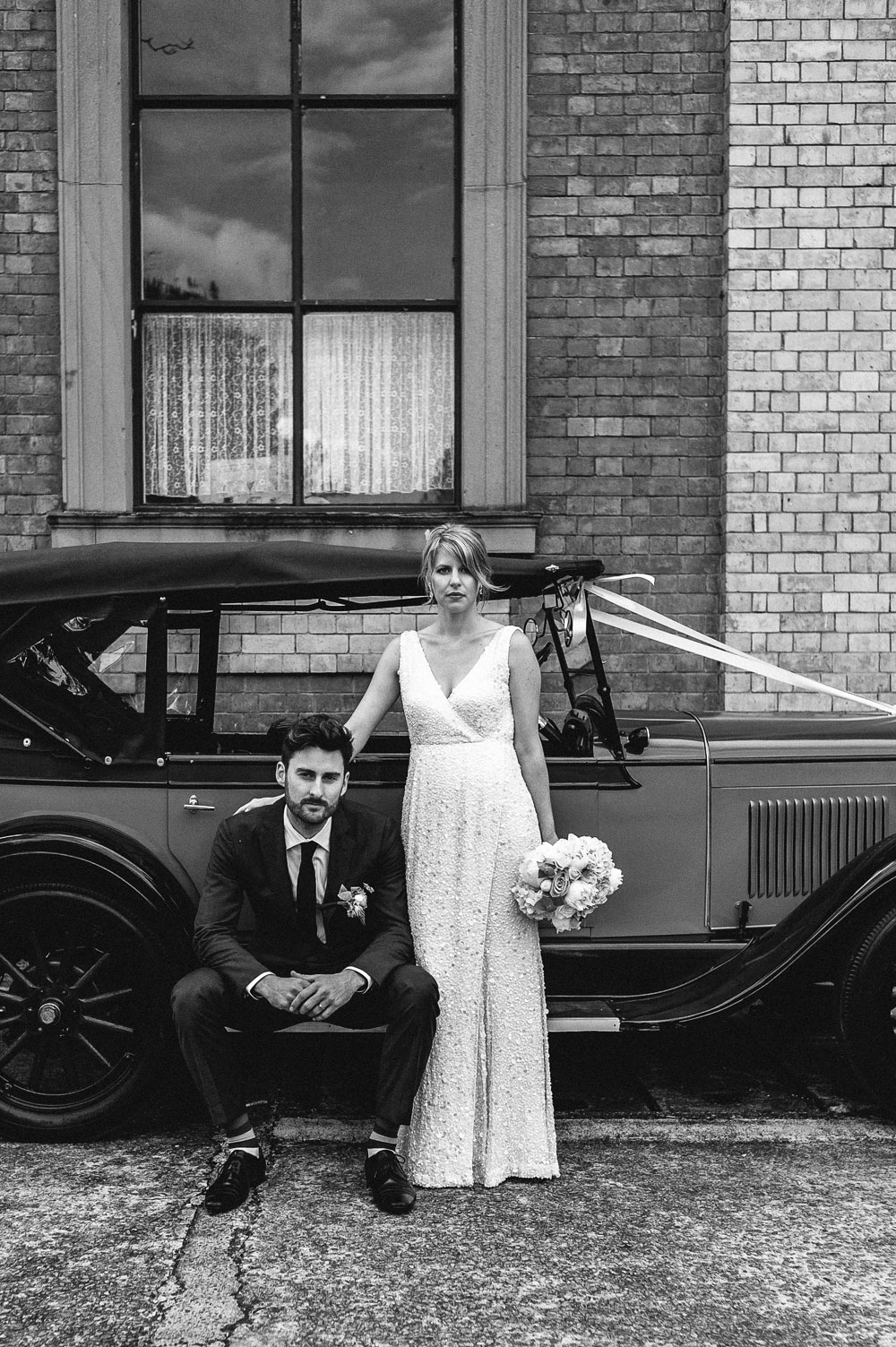Newcastle Walka Water Works wedding car