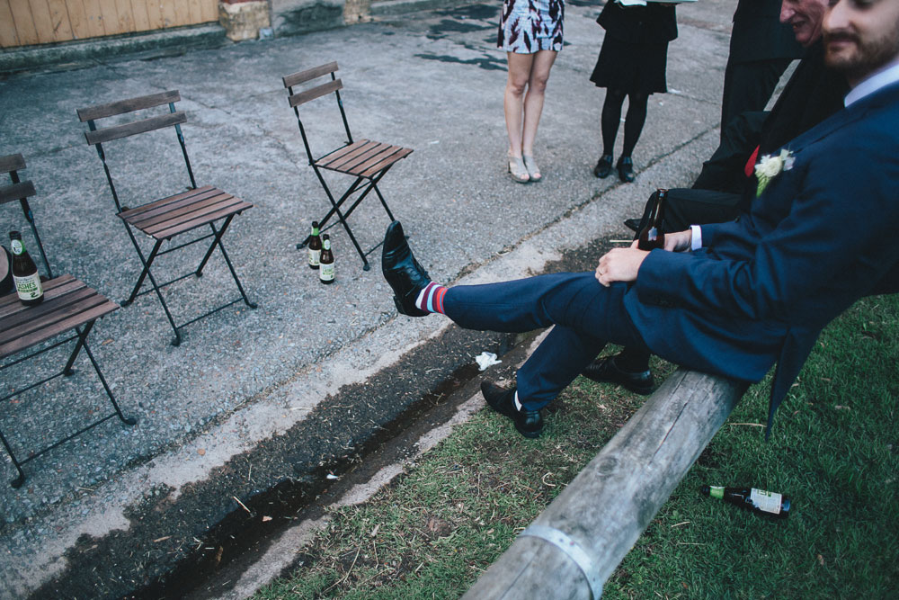 Newcastle Walka Water Works wedding photographer colorful socks