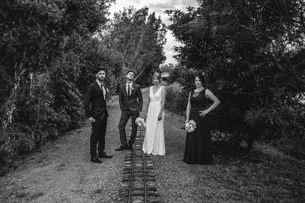 Newcastle Walka Water Works wedding bridal party