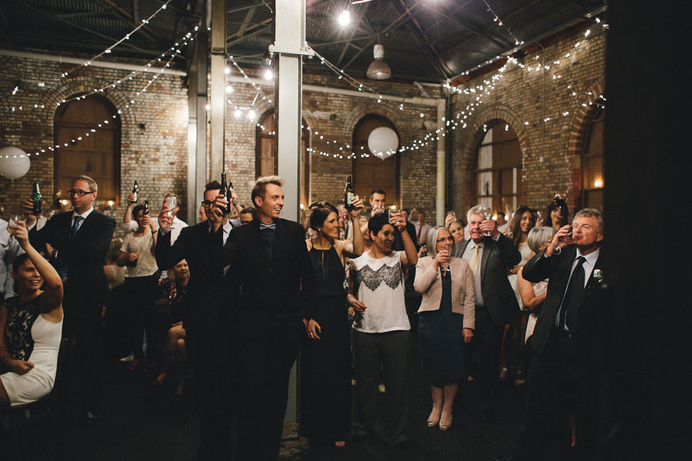 Newcastle Walka Water Works wedding photographer guests