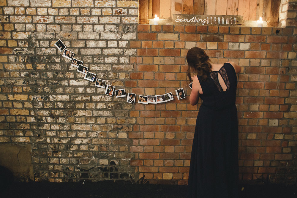 Newcastle Walka Water Works wedding photographer wall photo