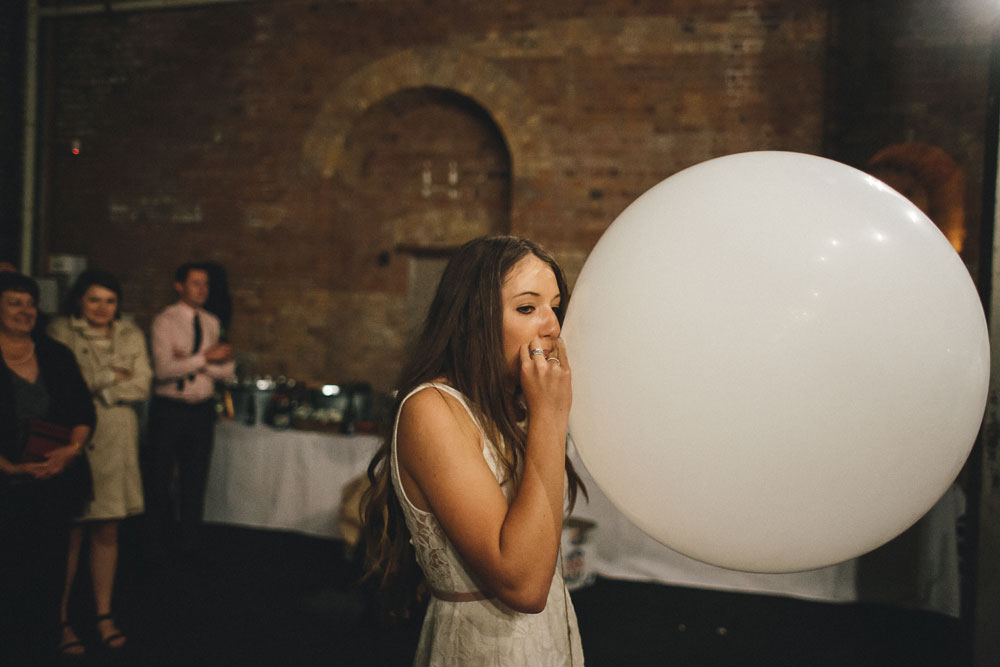 Newcastle Walka Water Works wedding photographer big balloon