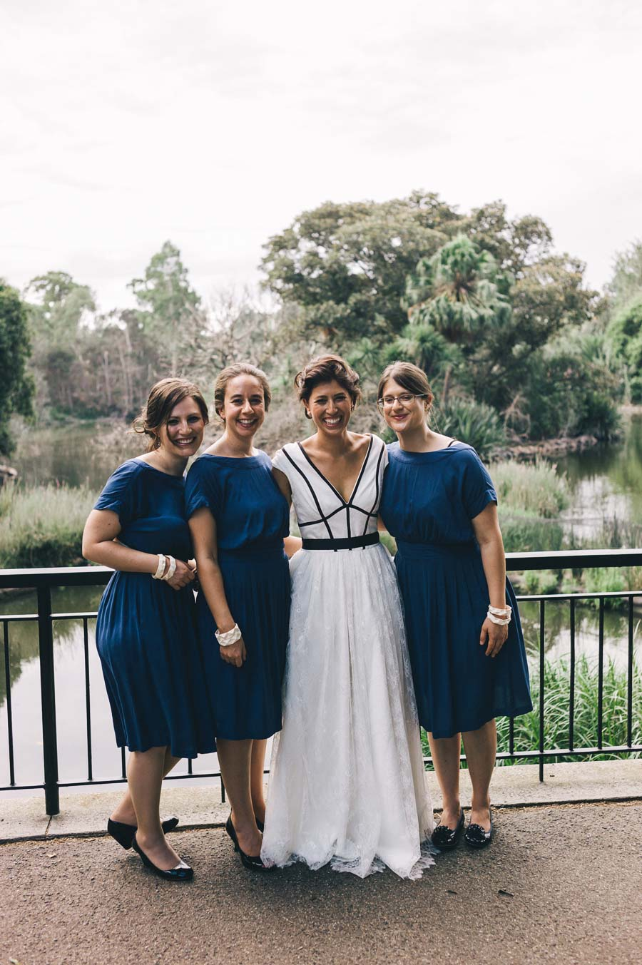 Melbourne royal botanical garden Jewish Wedding bridesmaids