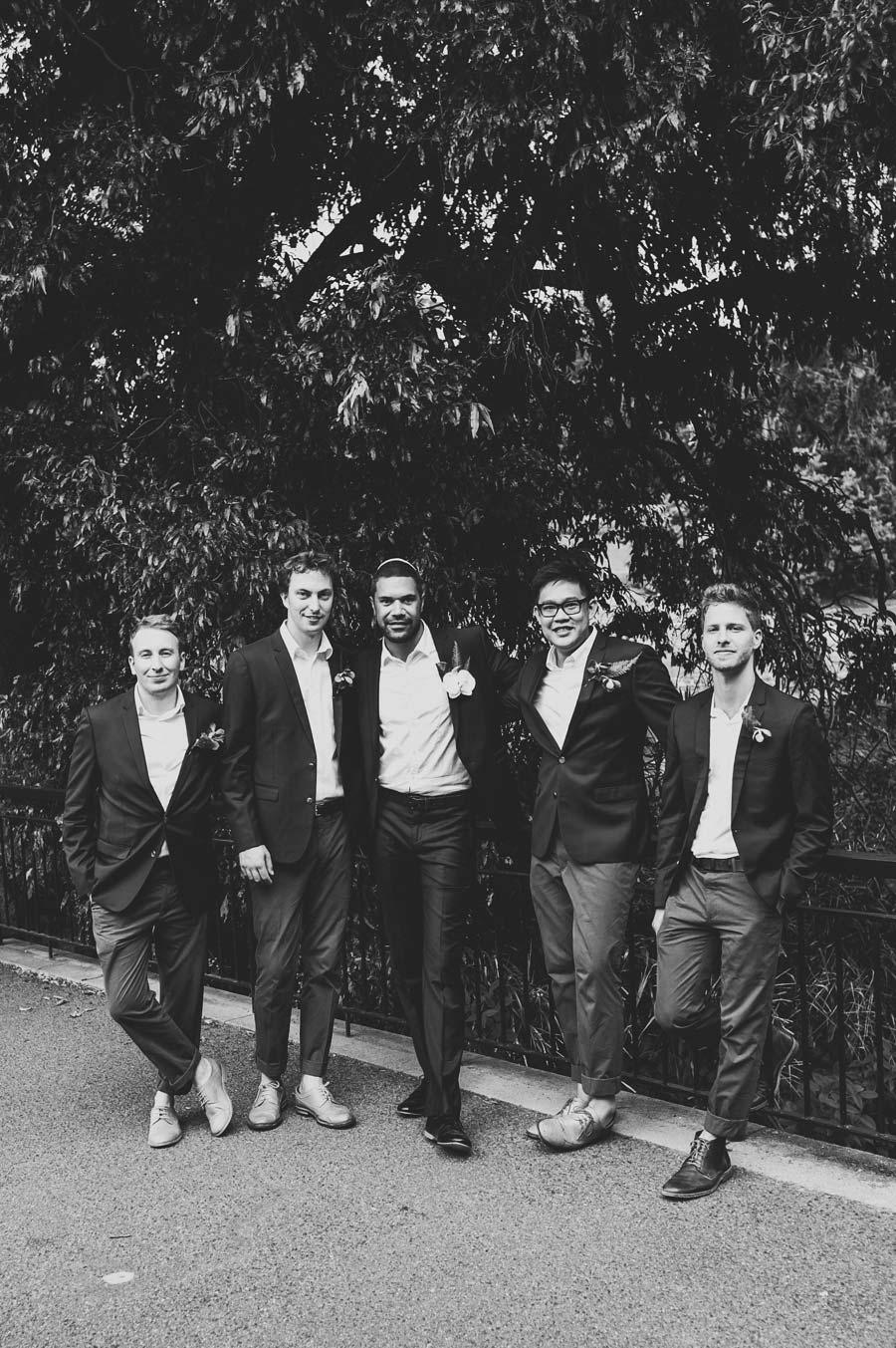 Melbourne royal botanical garden Jewish groomsmen