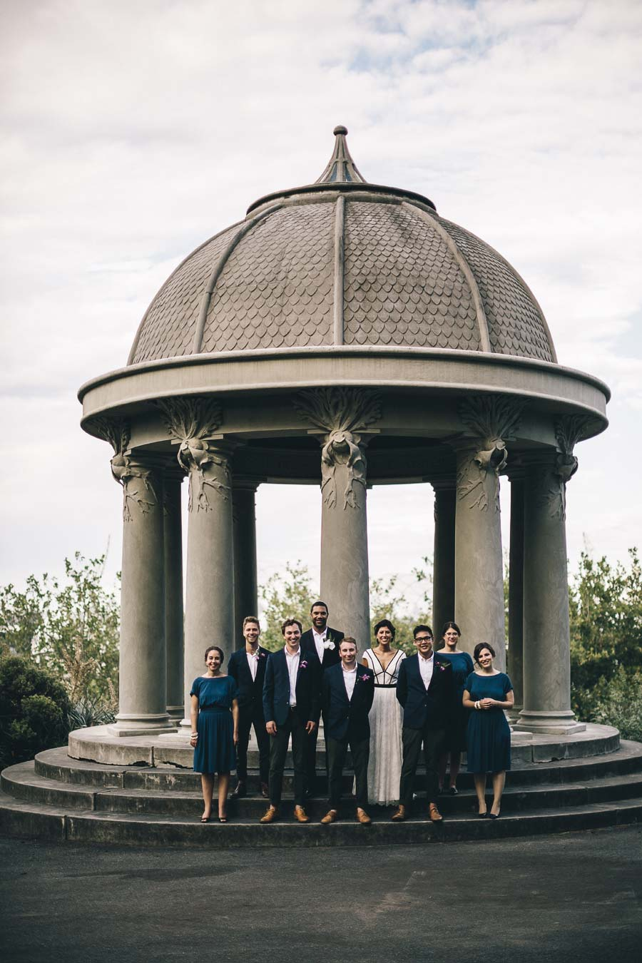 NGV Melbourne Jewish Wedding bridal party