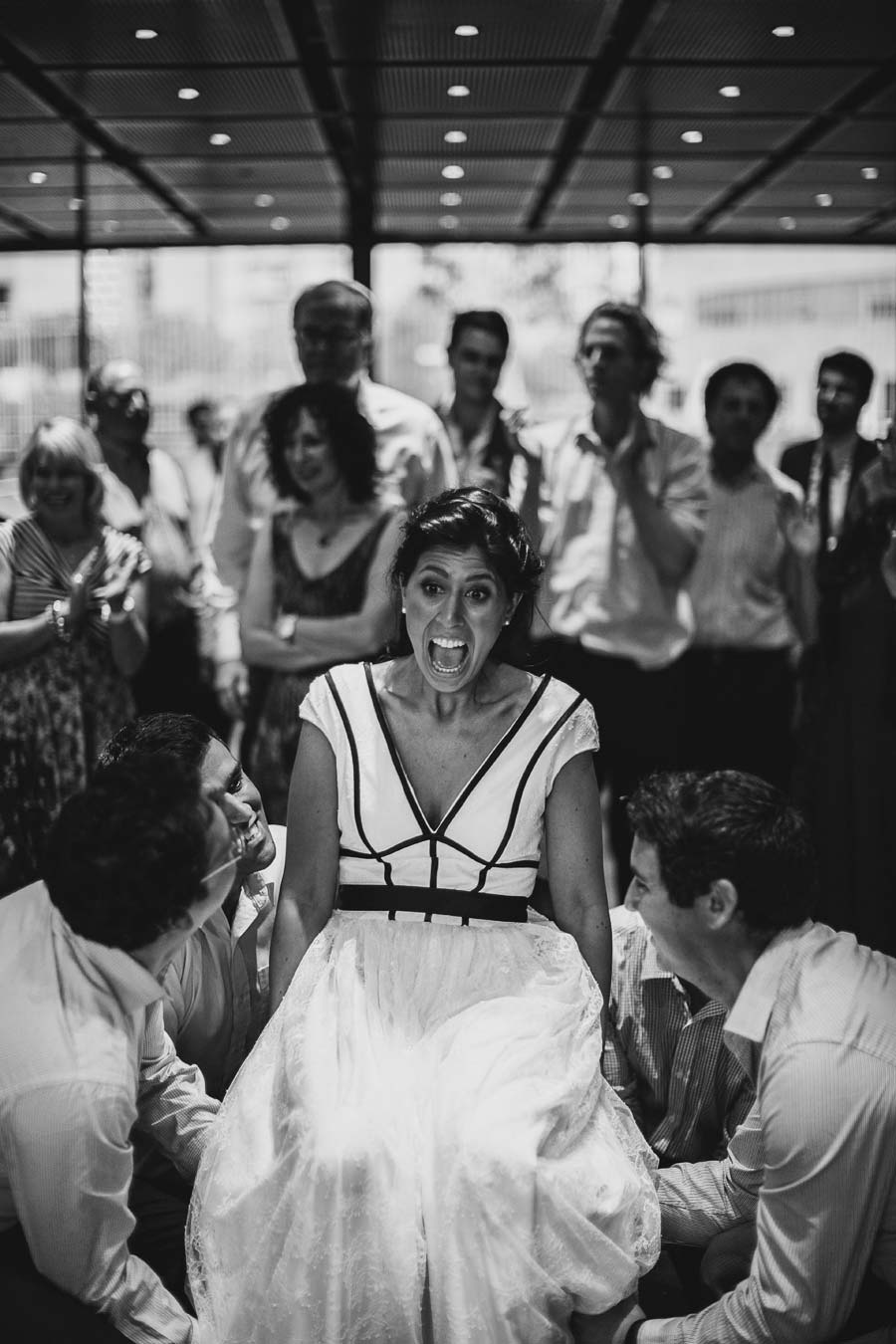 NGV Melbourne Jewish Wedding bride dance