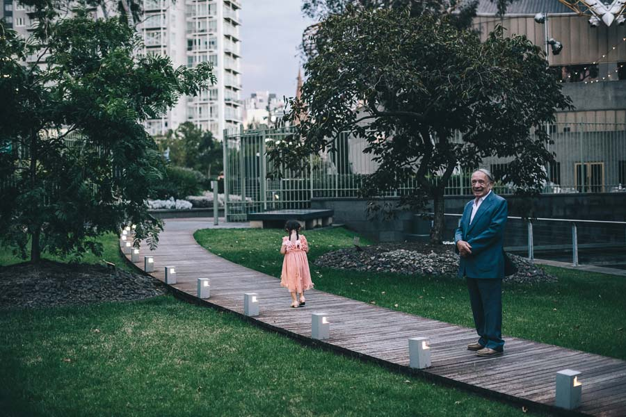 NGV Melbourne Wedding reception flower girl
