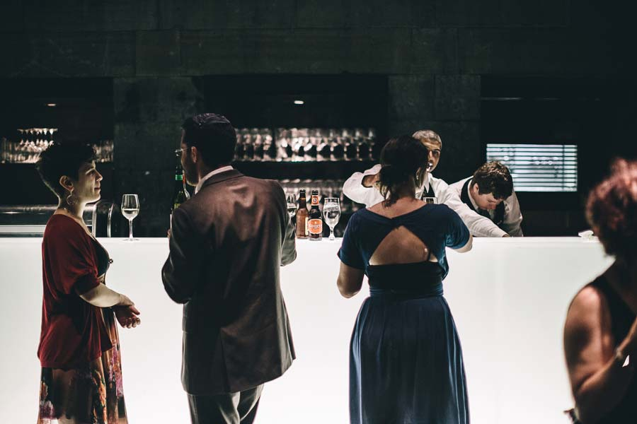 NGV Melbourne Wedding Reception bar
