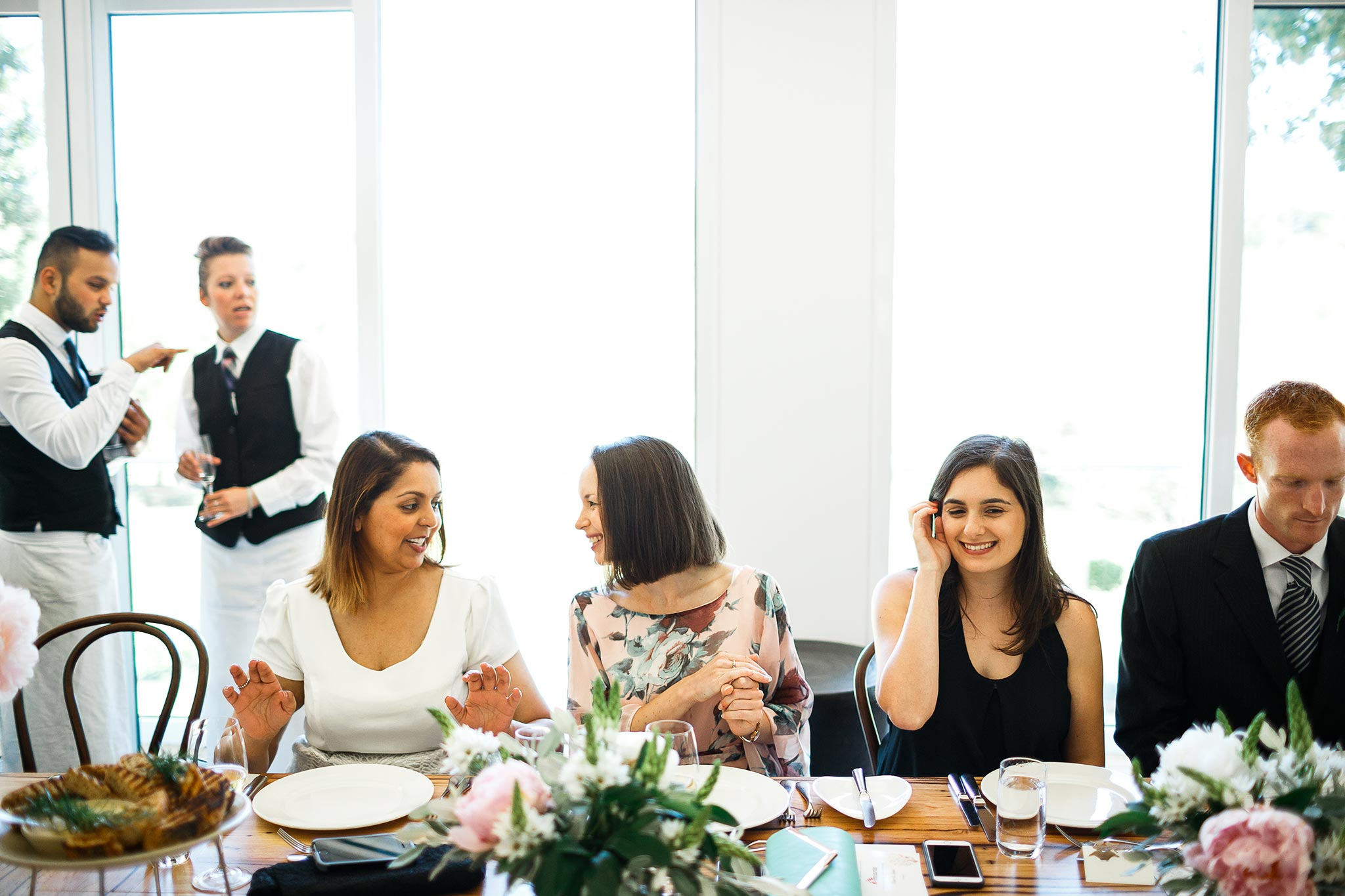 Daylesford-Lake-House-Wedding-Photography-lunch-reception-guests