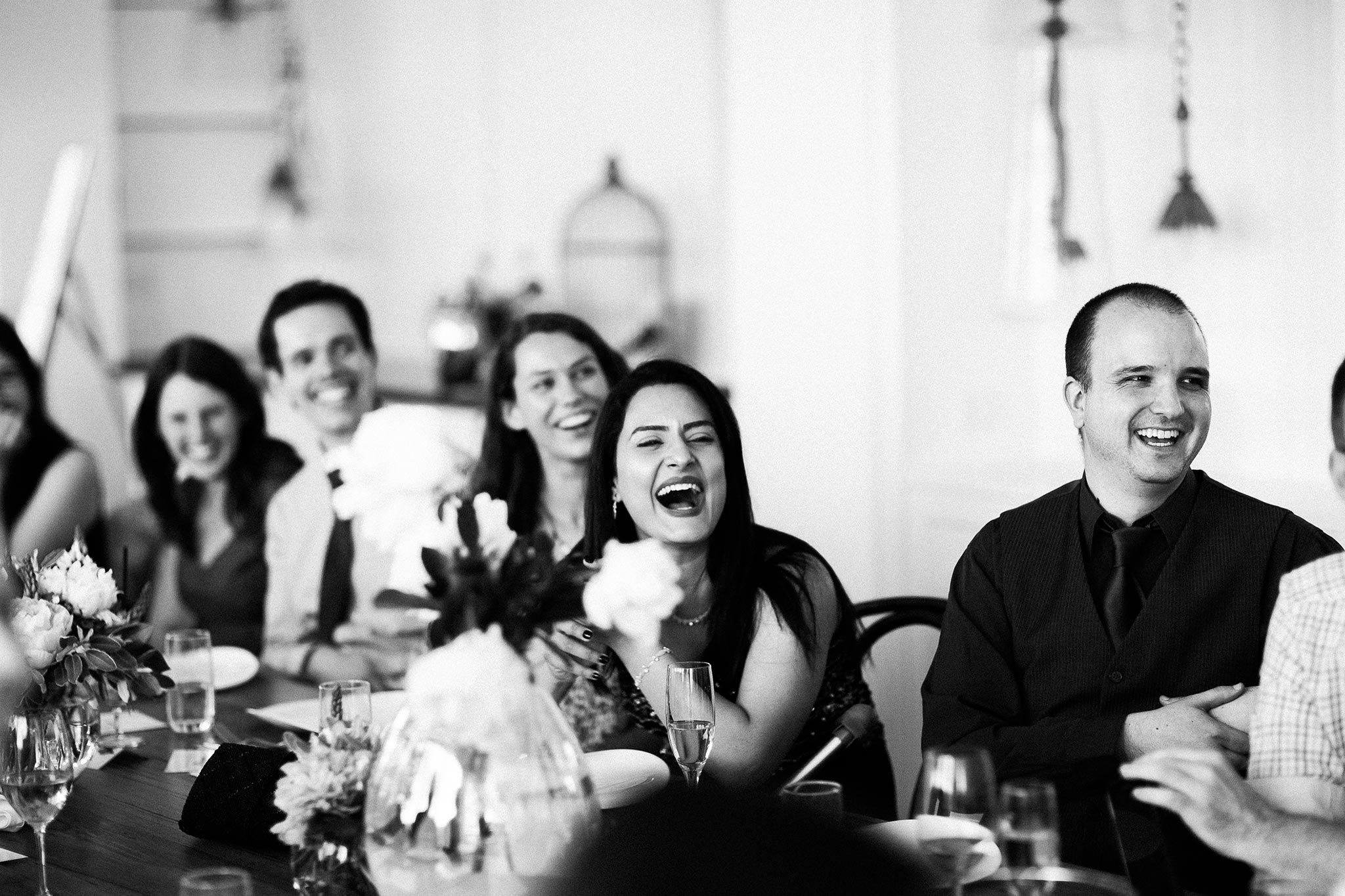 Daylesford-Lake-House-Wedding-Photographer-lunch-reception-guests