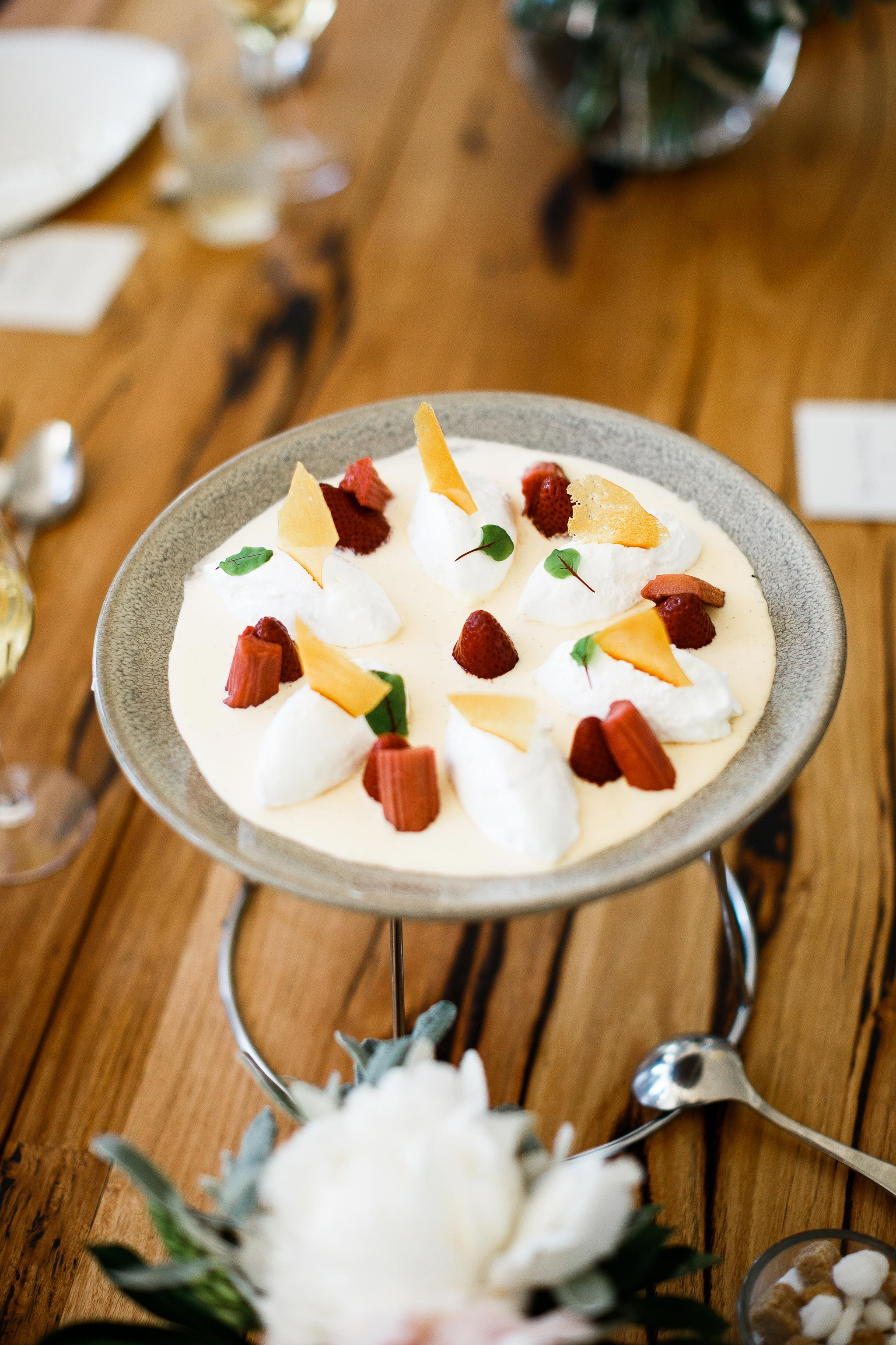 Daylesford-Lake-House-Wedding-Photographer-lunch-reception-sweet