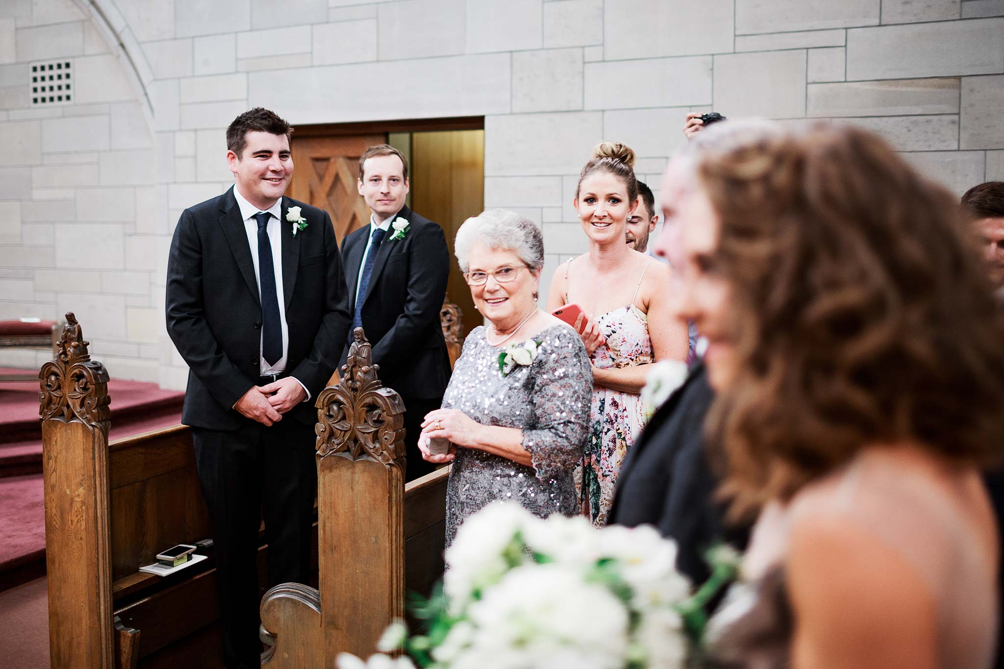 Newman-college-wedding-photographer-ceremony-entrance