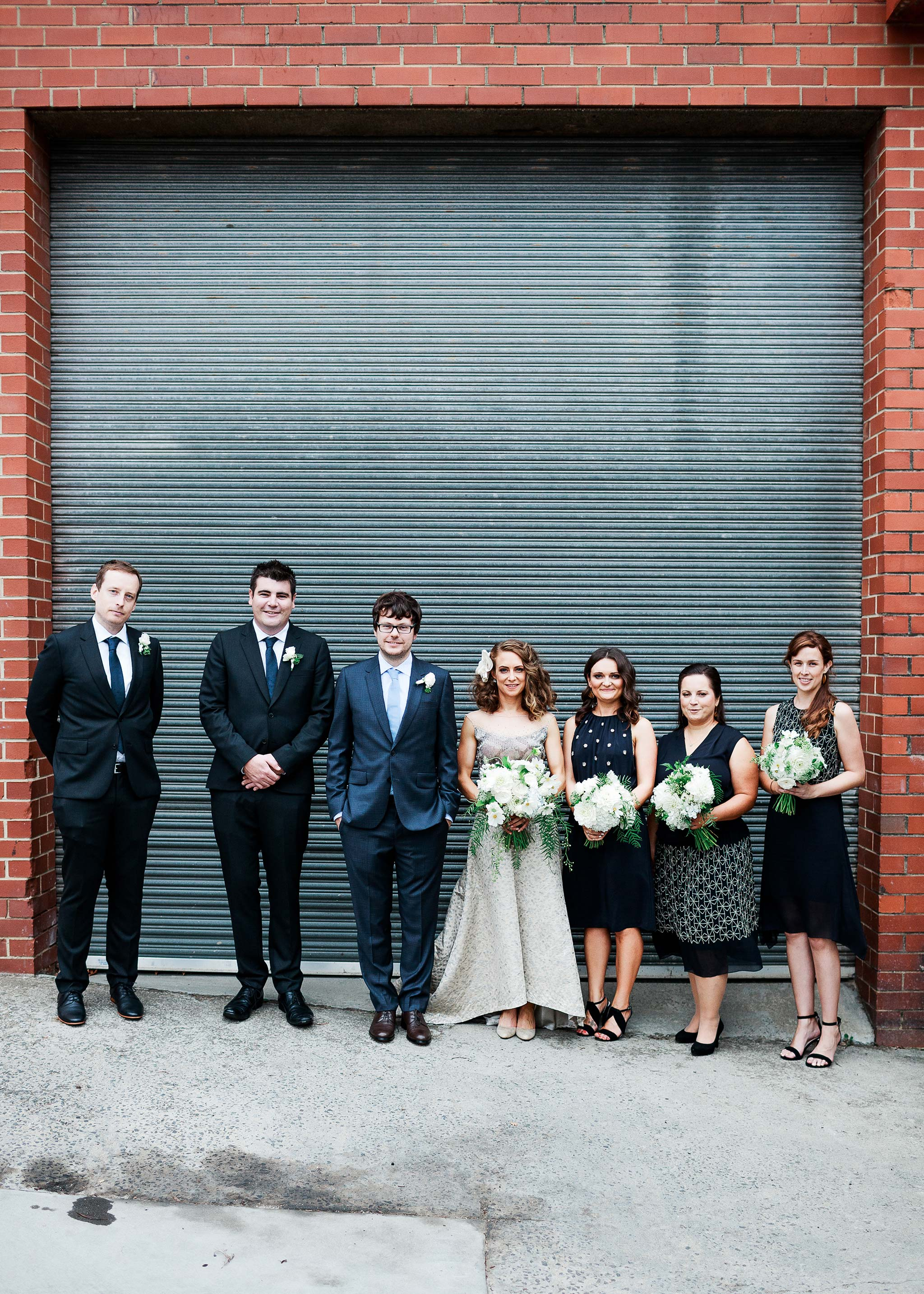 North-Melbourne-Wedding-Photographer-group-photo-alley