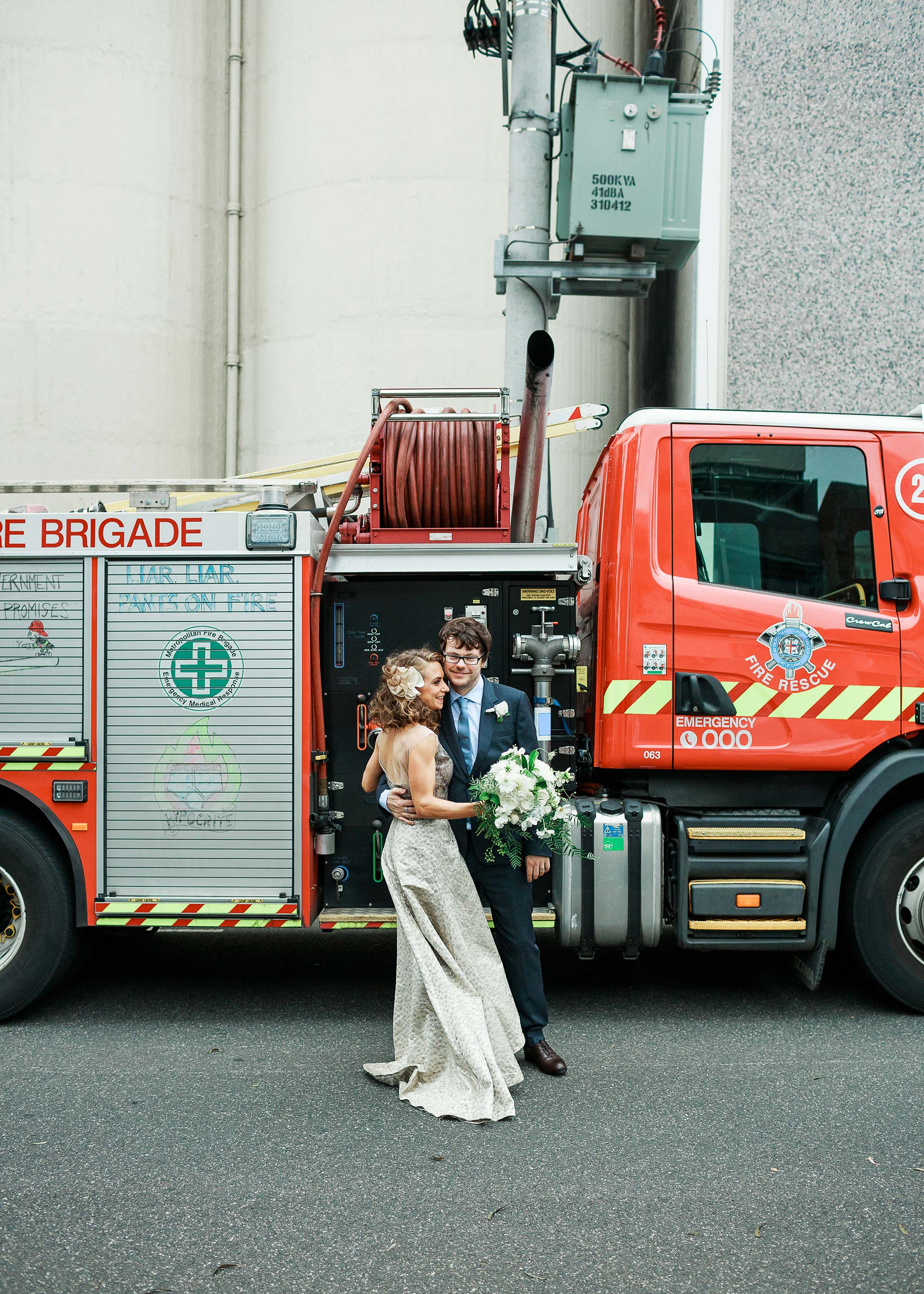 North-Melbourne-Wedding-Photographer-fire-truck-portrait