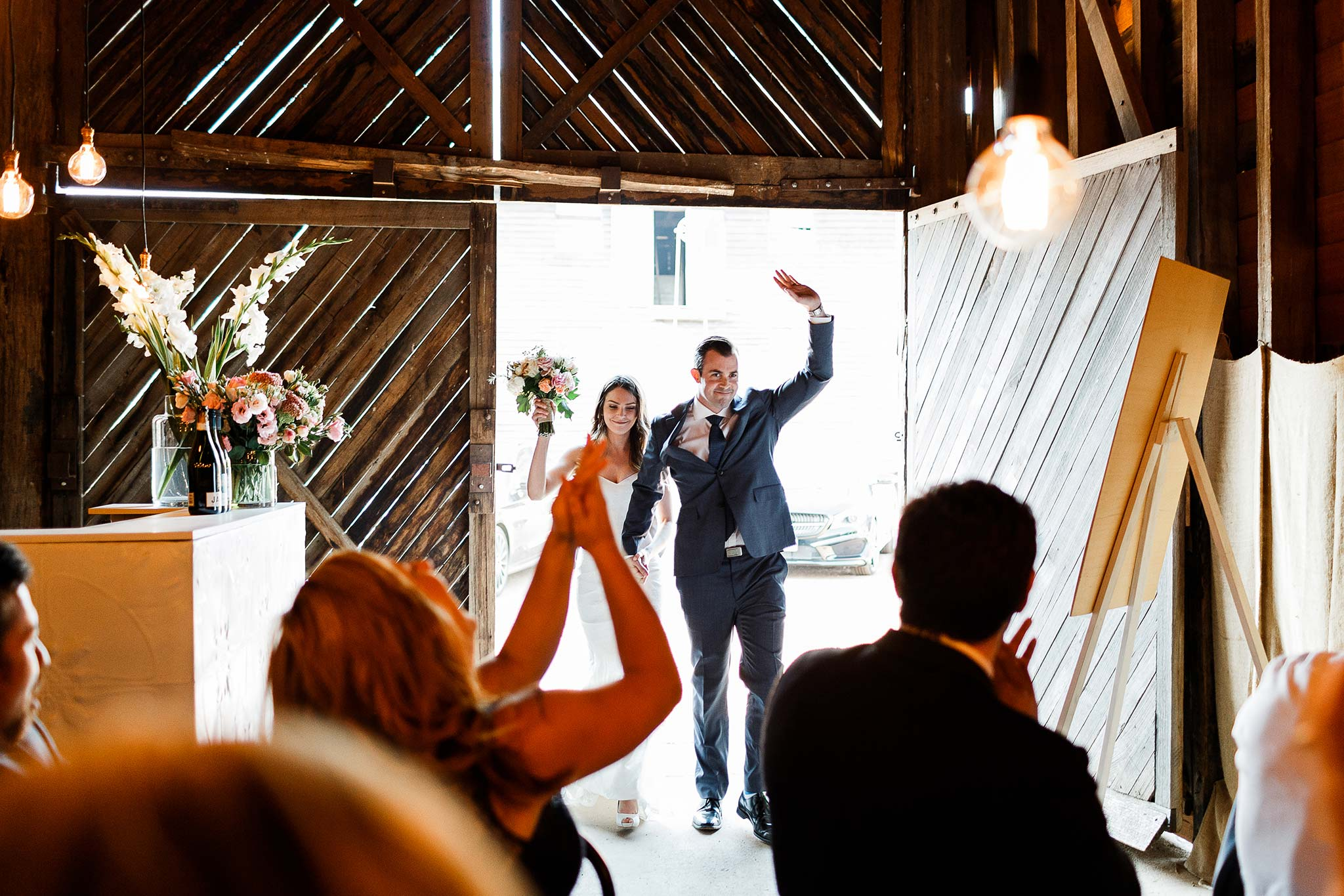 Launceston-Brickendon-barn-Wedding-Photographer-reception-entrance