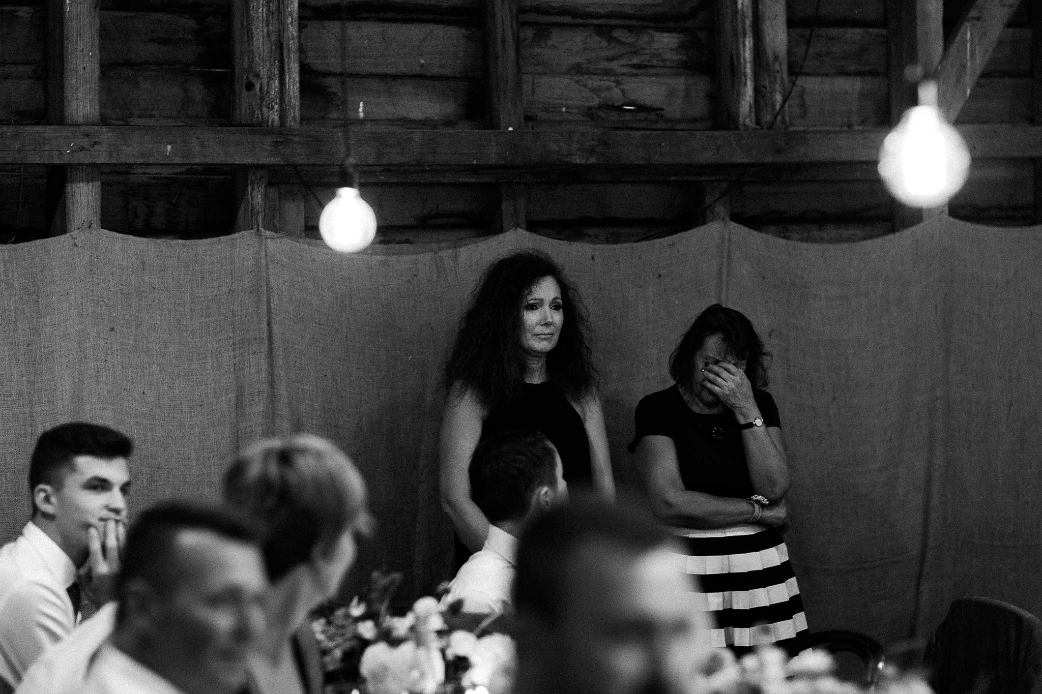 Launceston-Brickendon-barn-Wedding-Photographer-reception-speech-reaction