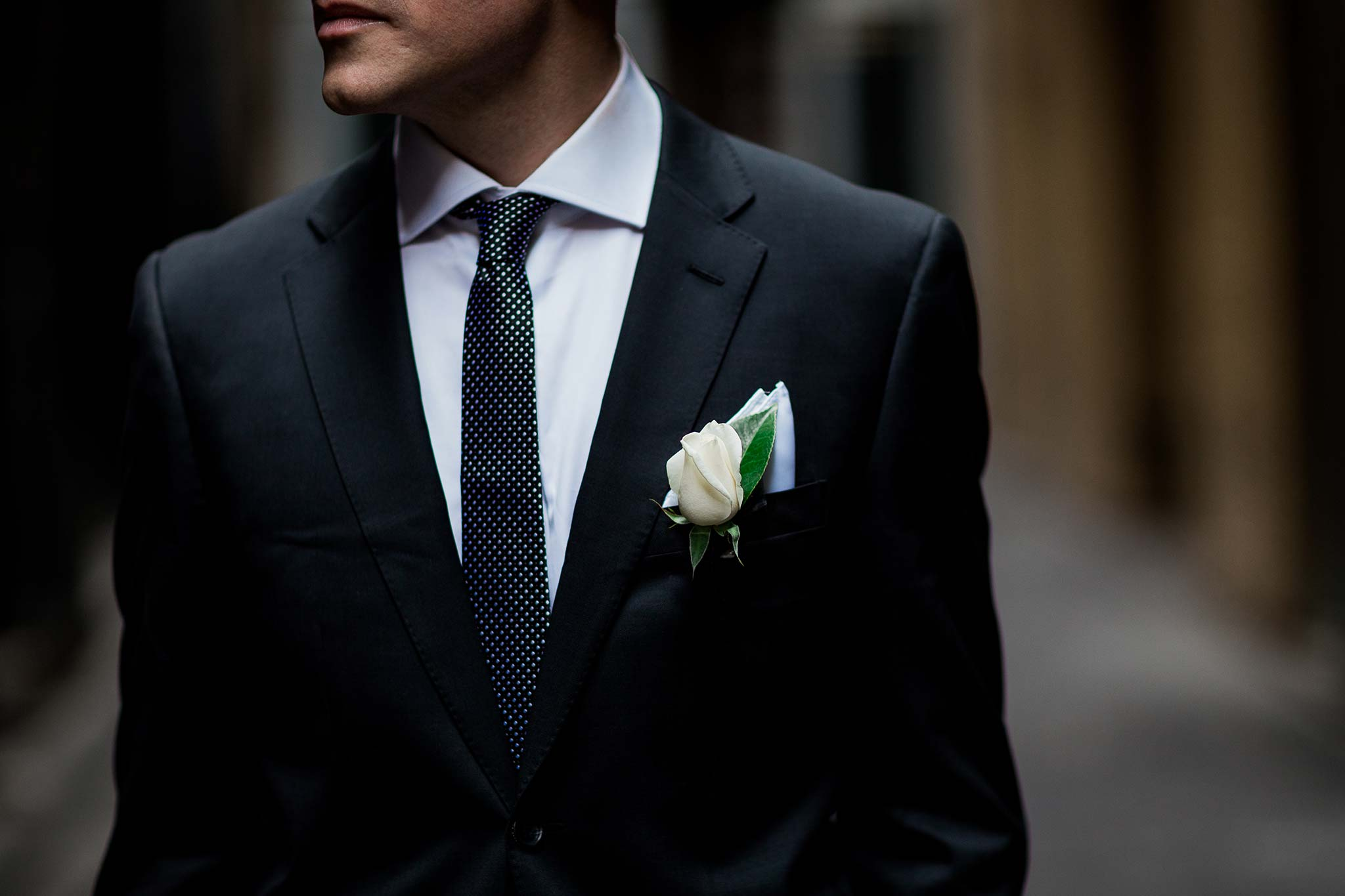 melbourne-flinders-lane-wedding-groom-flower