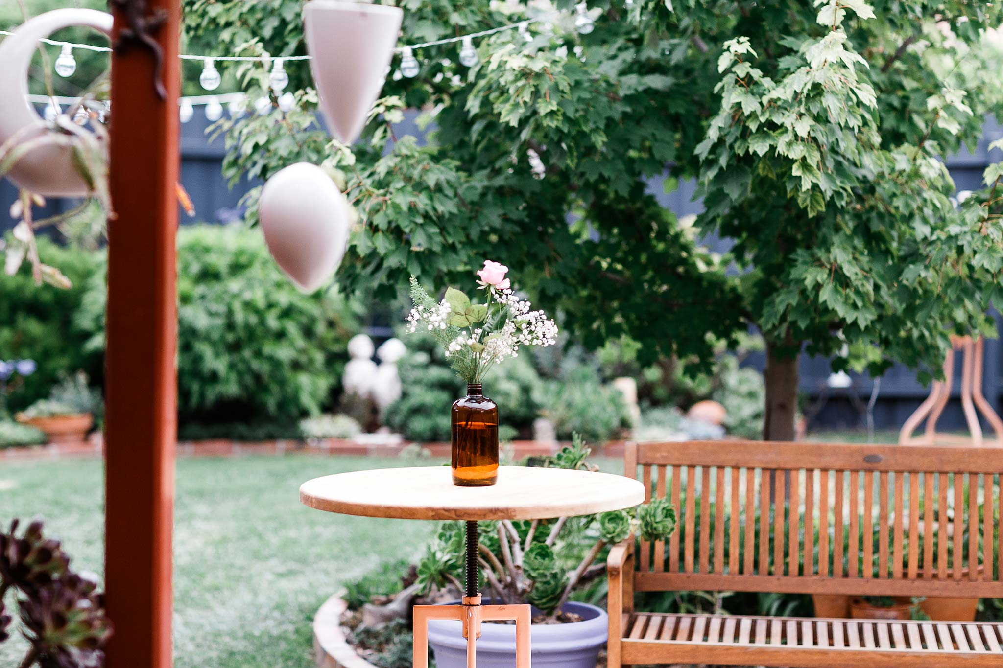Strathmore-Melbourne-Backyard-Wedding-garden-jar