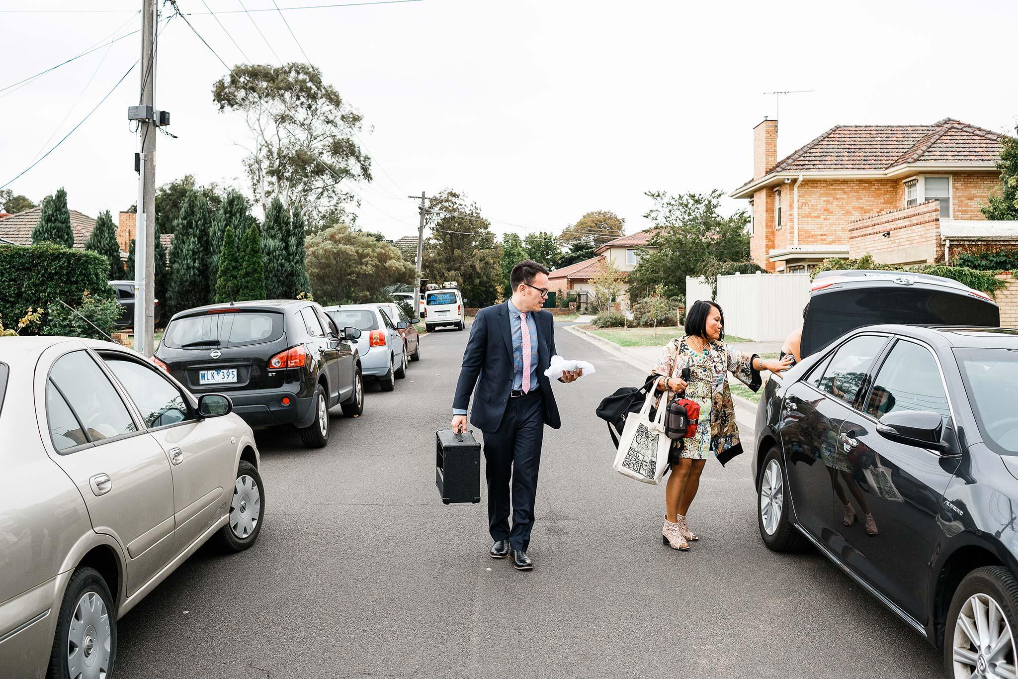 Strathmore-Melbourne-Backyard-Wedding-groom-arrival