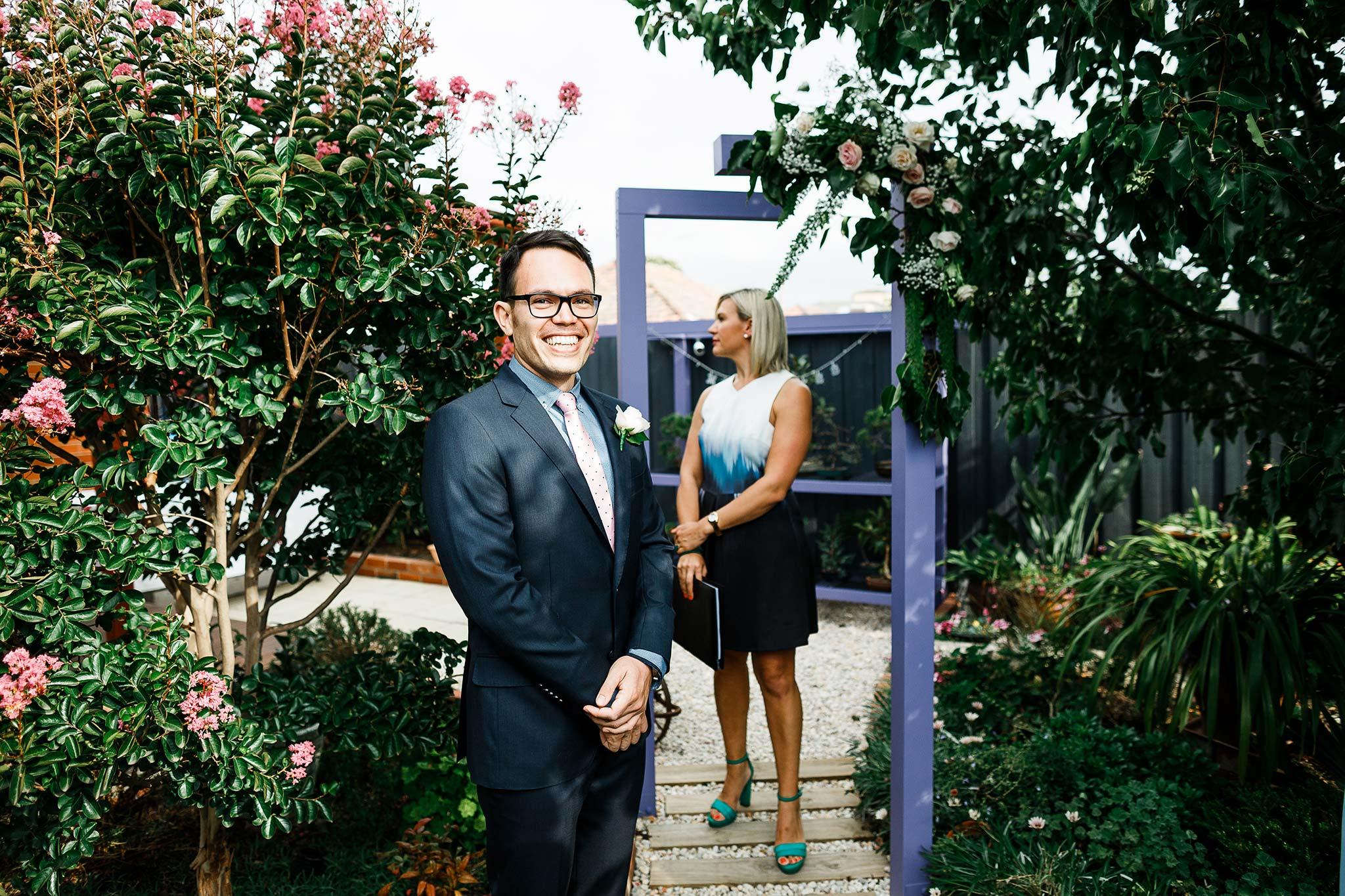 Strathmore-Melbourne-Backyard-Wedding-ceremony