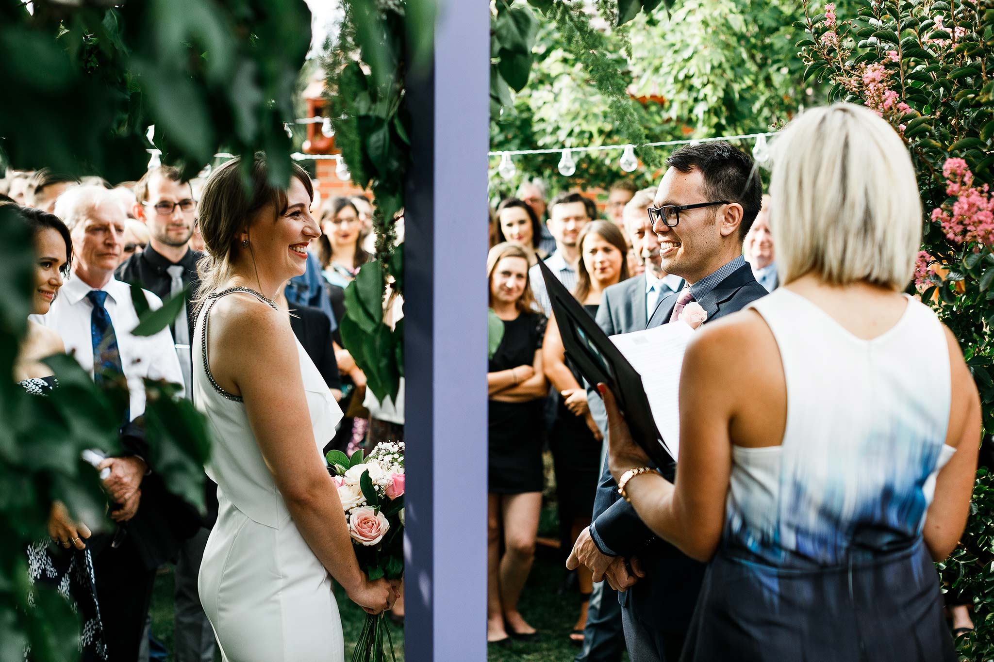 Strathmore-Melbourne-Backyard-Wedding-bride-groom-ceremony