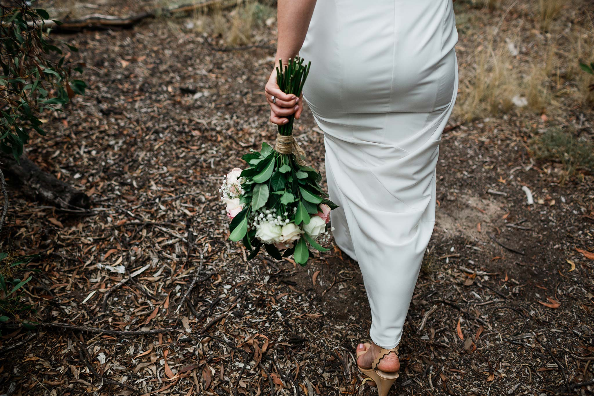 Strathmore-Melbourne-Backyard-Wedding-napier-park-flower-bride-walking