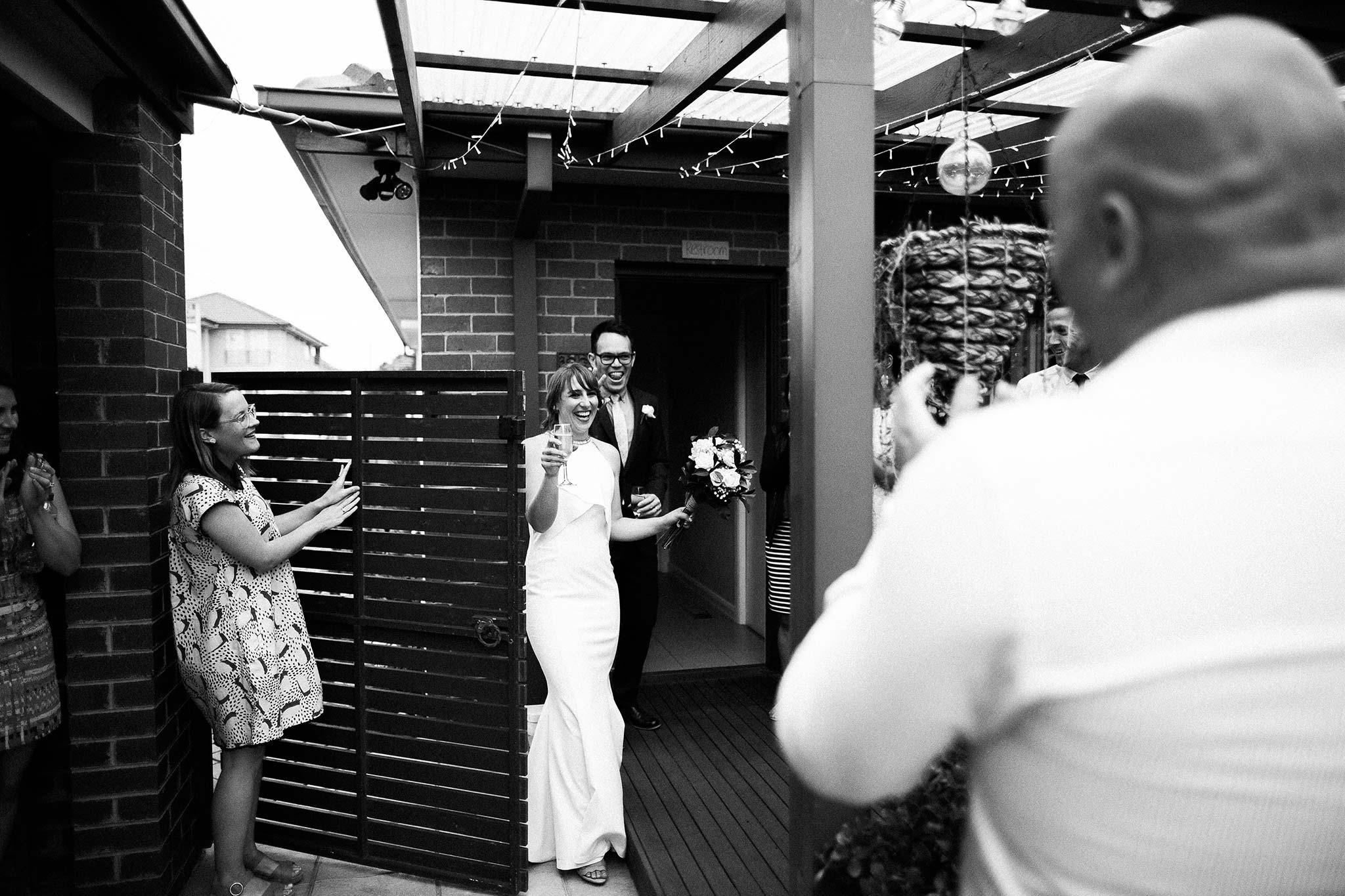 Strathmore-Melbourne-Backyard-Wedding-bride-groom-entry