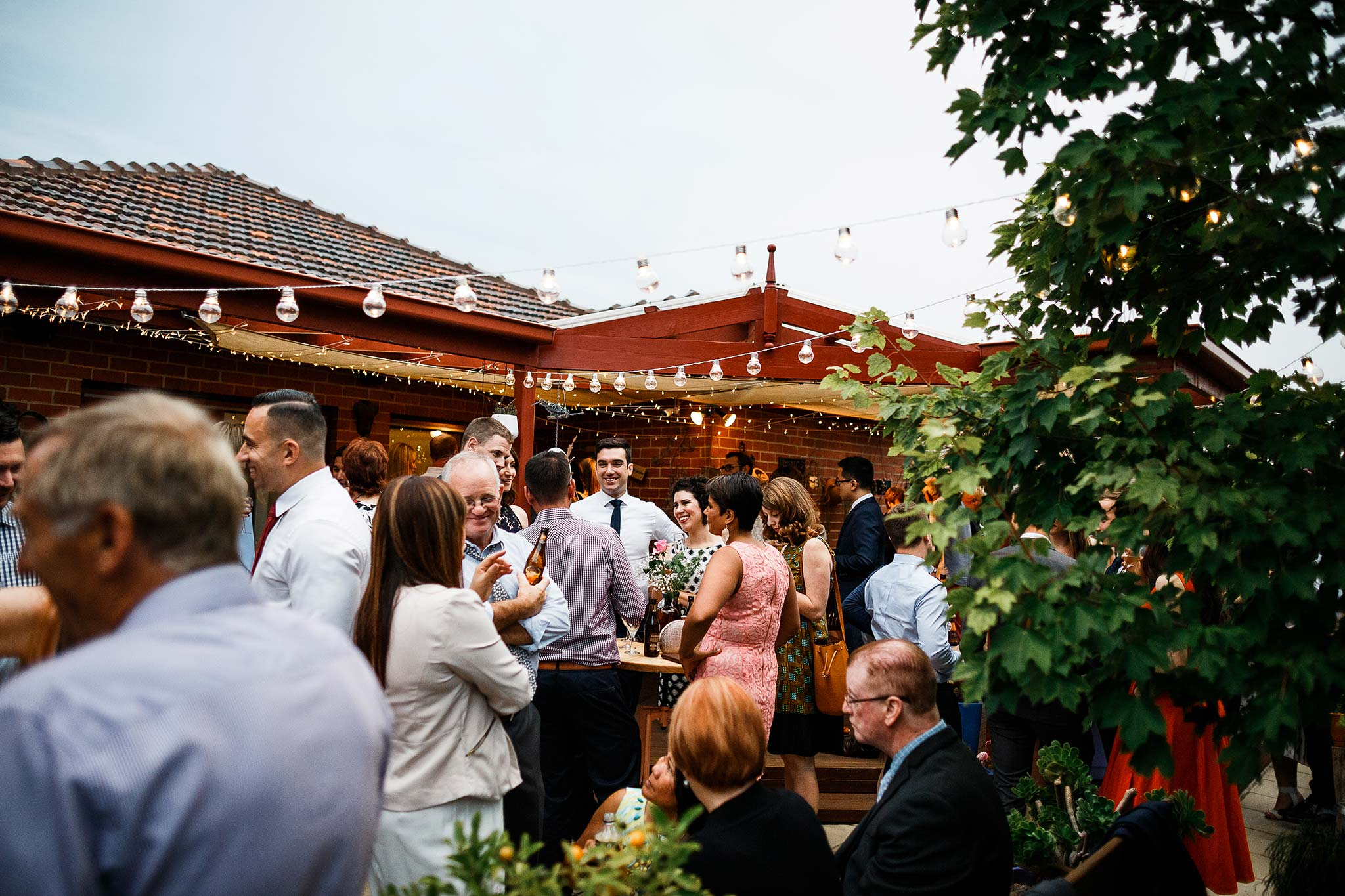 Strathmore-Melbourne-Backyard-Wedding-reception-guests