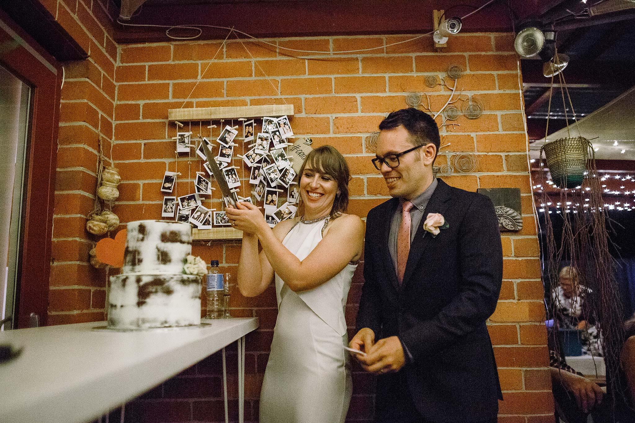 Strathmore-Melbourne-Backyard-Wedding-reception-cake-cutting