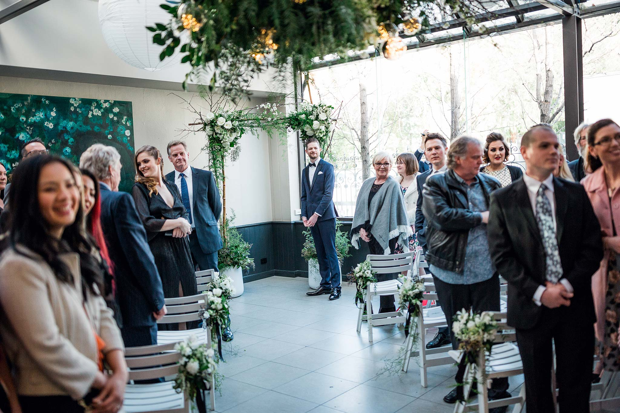 melbourne-fitzroy-st-andrews-conservatory-pumphouse-wedding-venue-ceremony-groom-altar