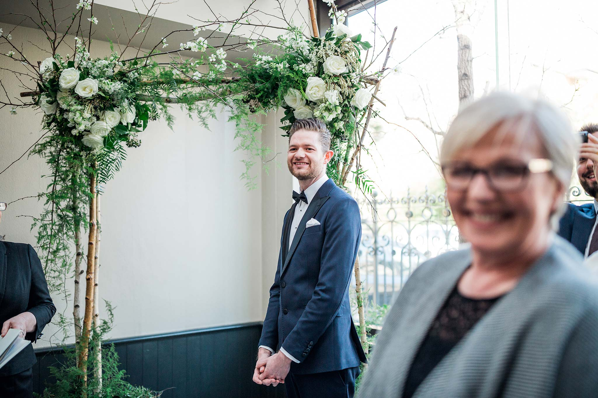 melbourne-fitzroy-st-andrews-conservatory-pumphouse-wedding-venue-ceremony-groom-expression