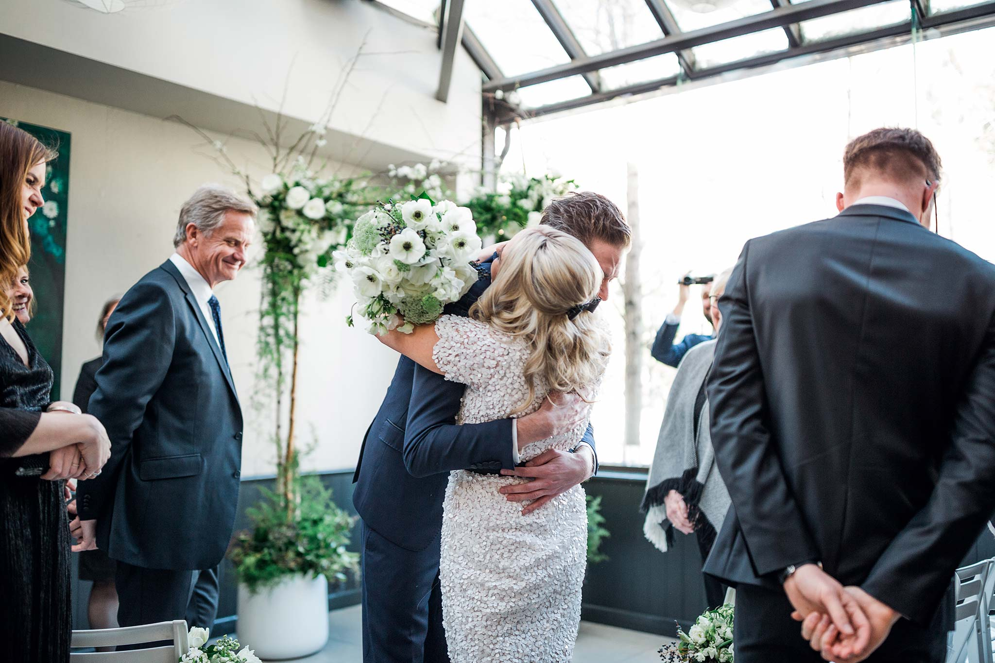 melbourne-fitzroy-st-andrews-conservatory-pumphouse-wedding-venue-ceremony-groom-bride-hug