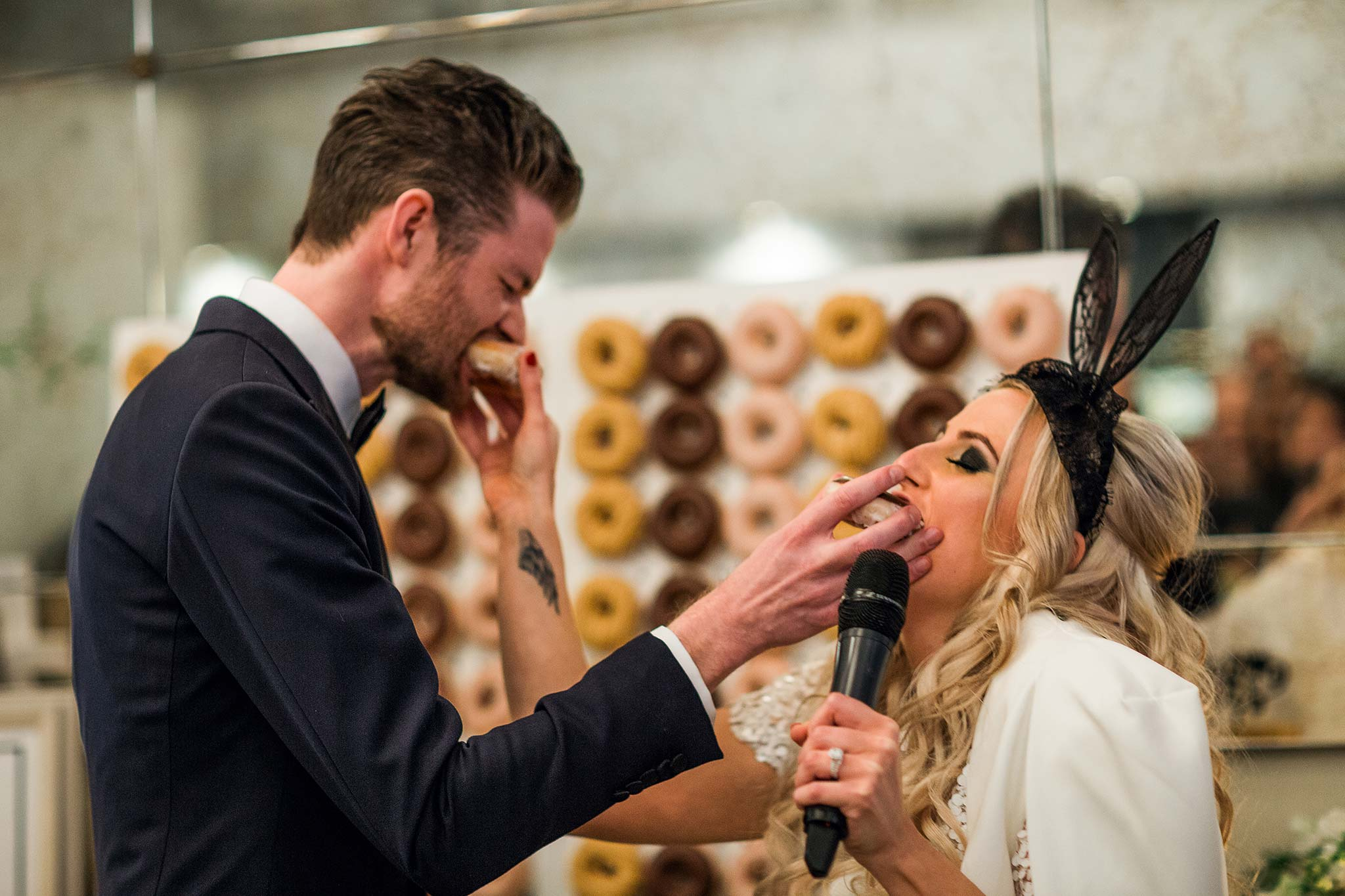 melbourne-fitzroy-st-andrews-conservatory-pumphouse-wedding-reception-speeches-donut
