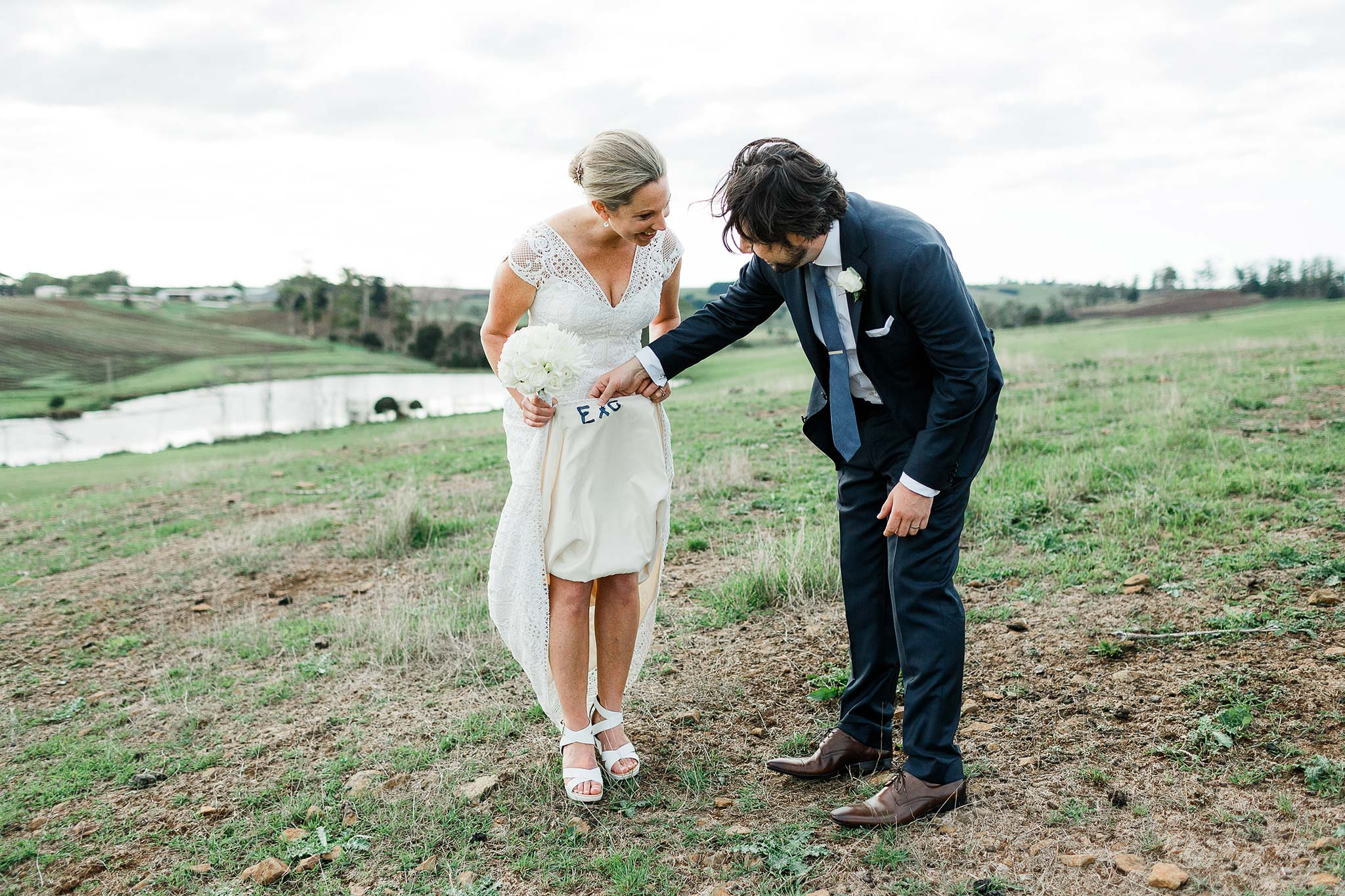 Tasmania-Davenport-Farm-Wedding-stitched-dress