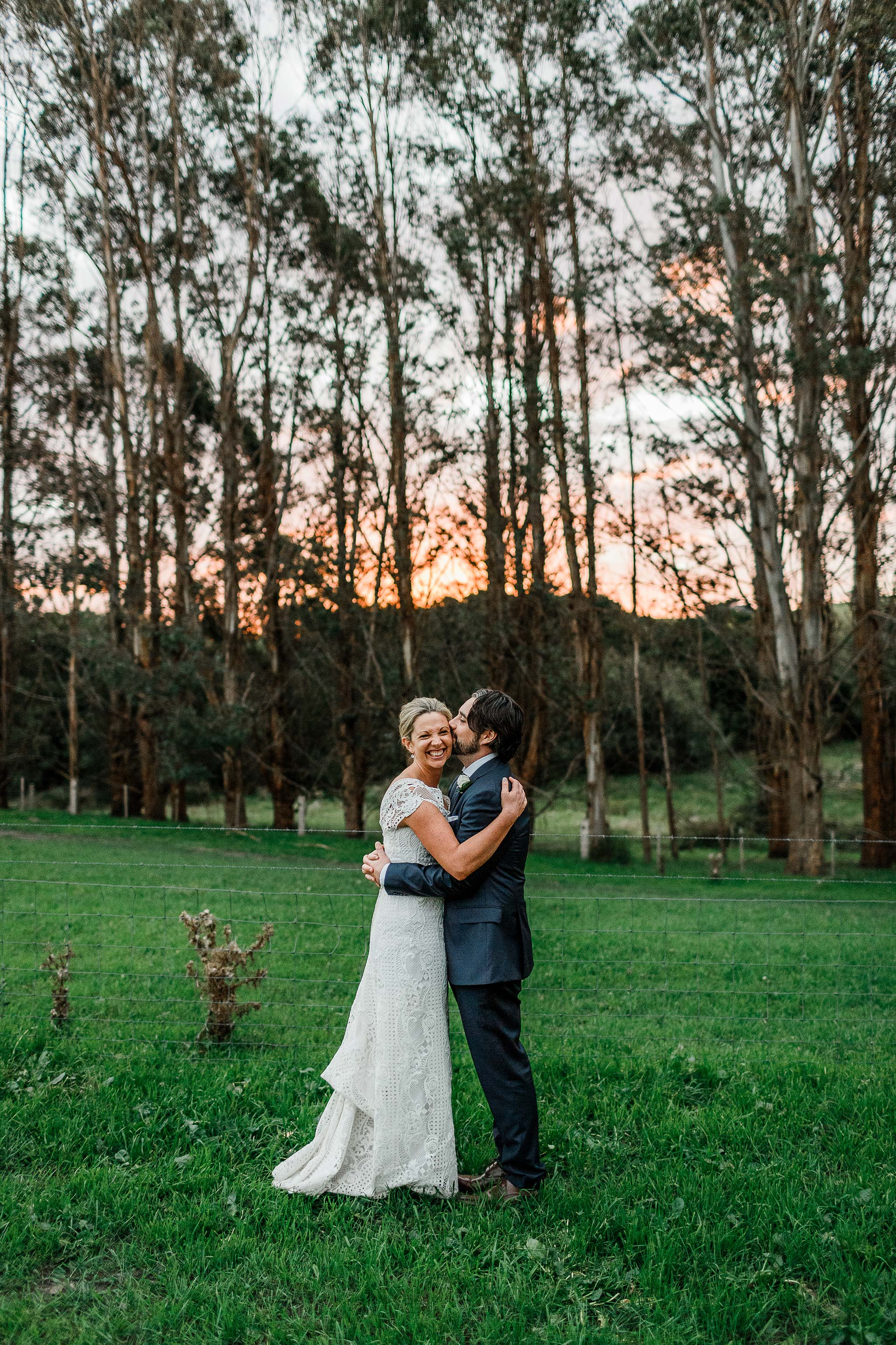Tasmania-Davenport-Farm-Wedding-golden-hour