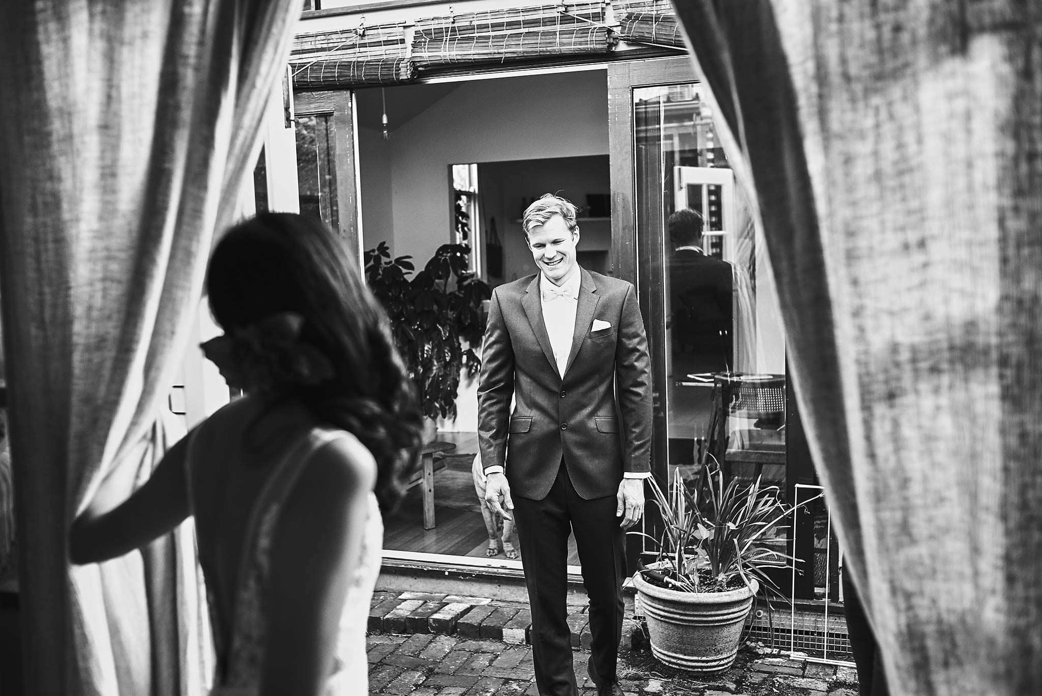 Melbourne-Fitzroy-Surprise-Winter-Wedding-photographer-getting-ready-first-look