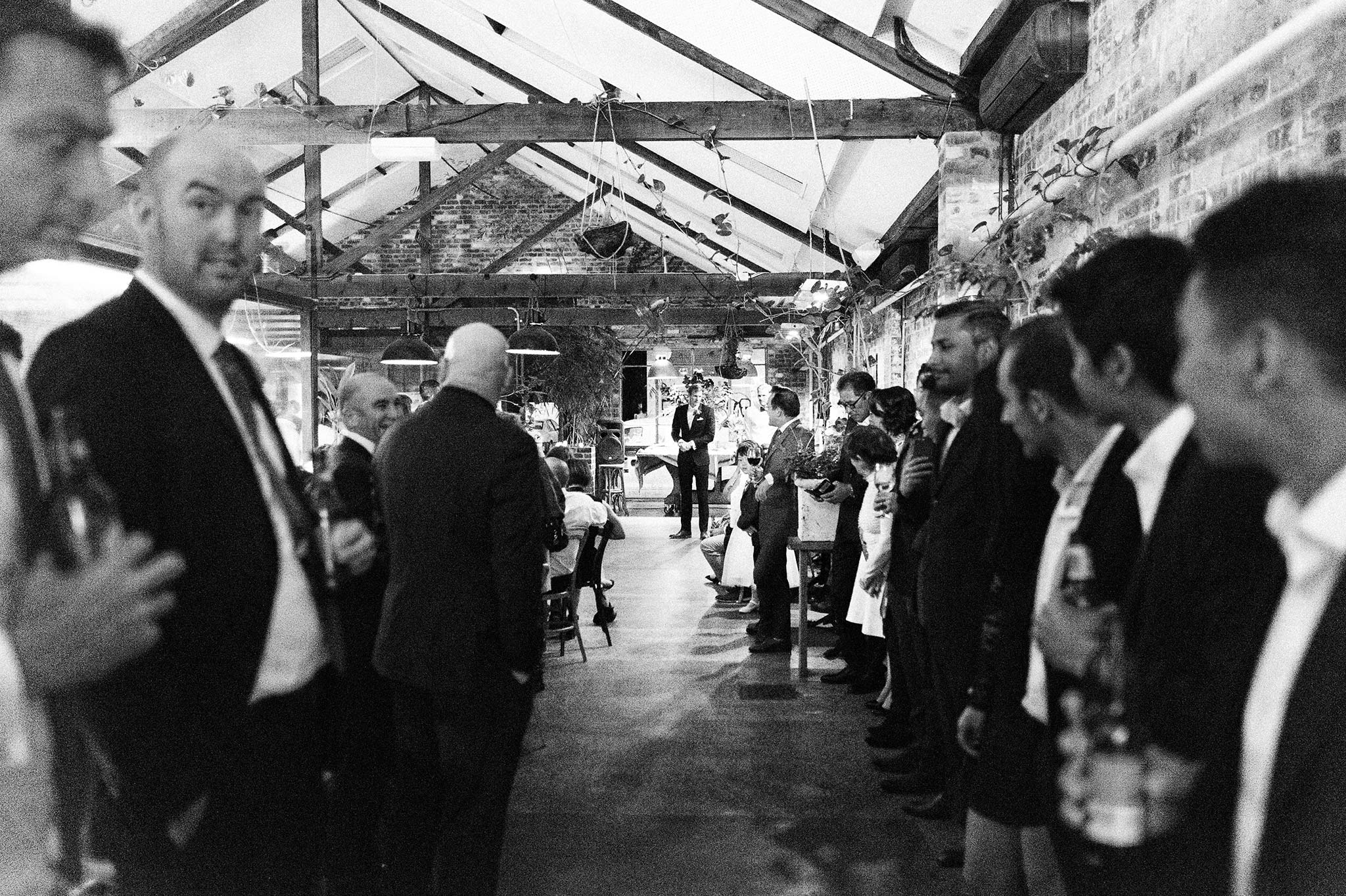 Melbourne-North-Carlton-East-Elevation-Surprise-Winter-warehouse-Wedding-photographer-ceremony