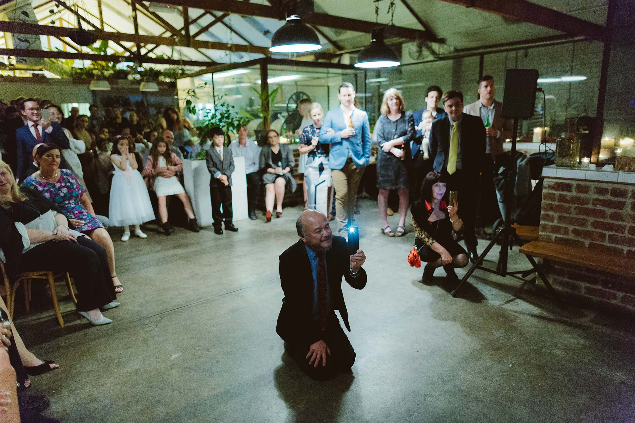 Melbourne-North-Carlton-East-Elevation-Surprise-Winter-warehouse-Wedding-photographer-father