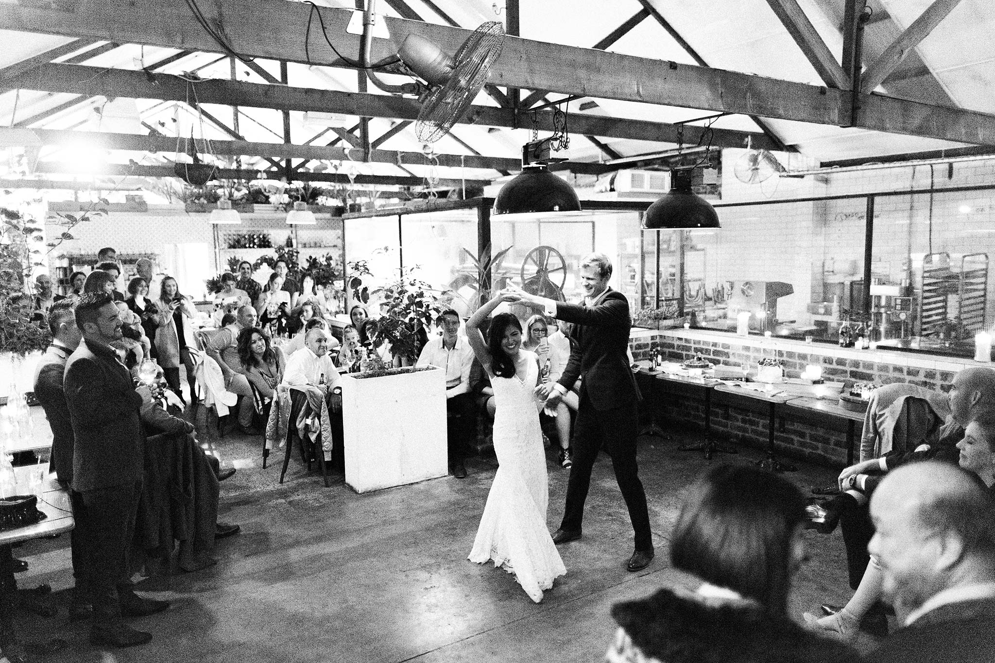 Melbourne-North-Carlton-East-Elevation-Surprise-Winter-warehouse-Wedding-photographer-dance