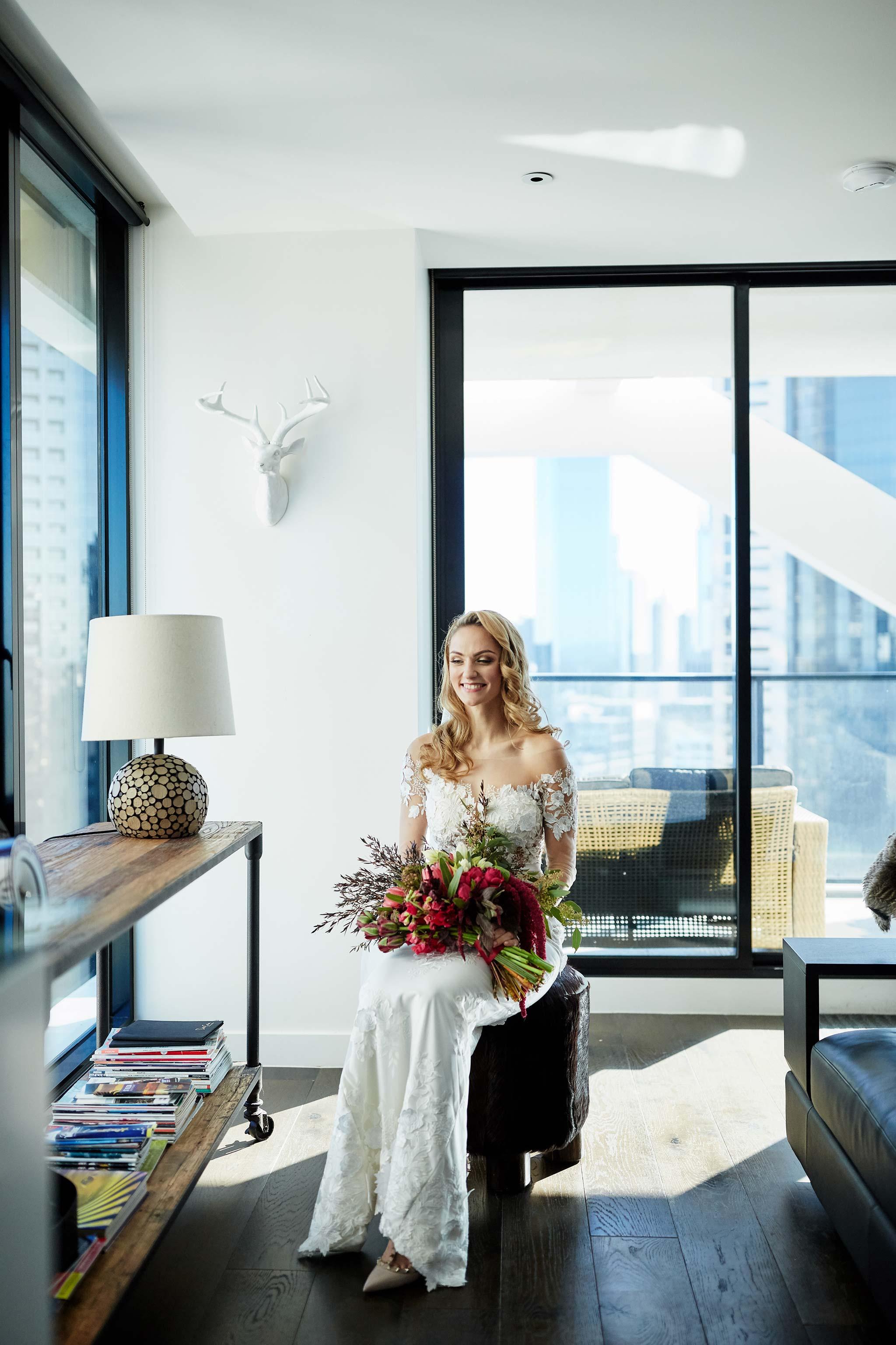Melbourne-Wedding-Photographer-service-apartment-getting-ready-bride