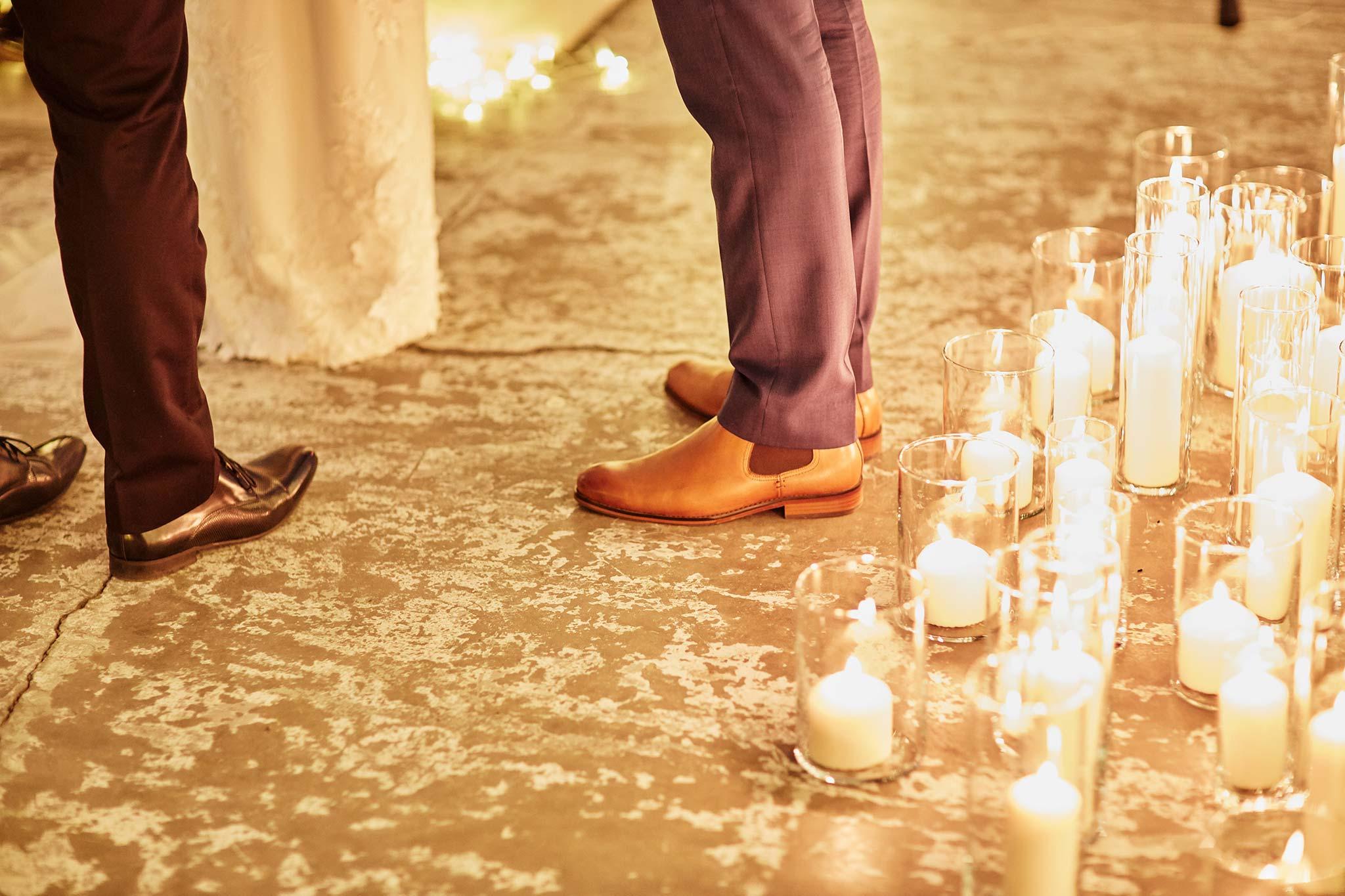 Melbourne-Wedding-Photographer-smartartz-gallery-ceremony-candle