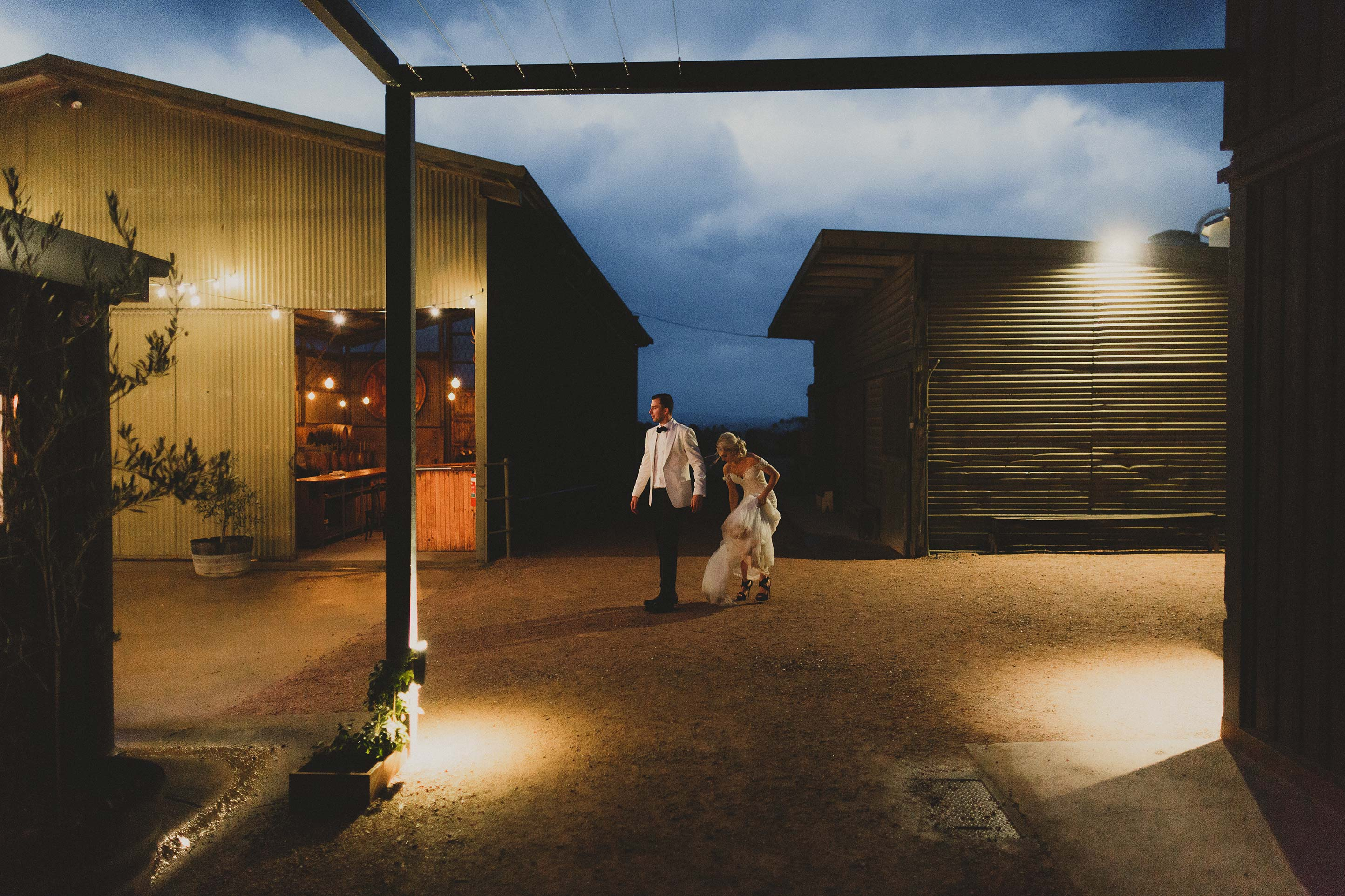 Melbourne-Wedding-Photographer-Zonzo-barn-night-portrait