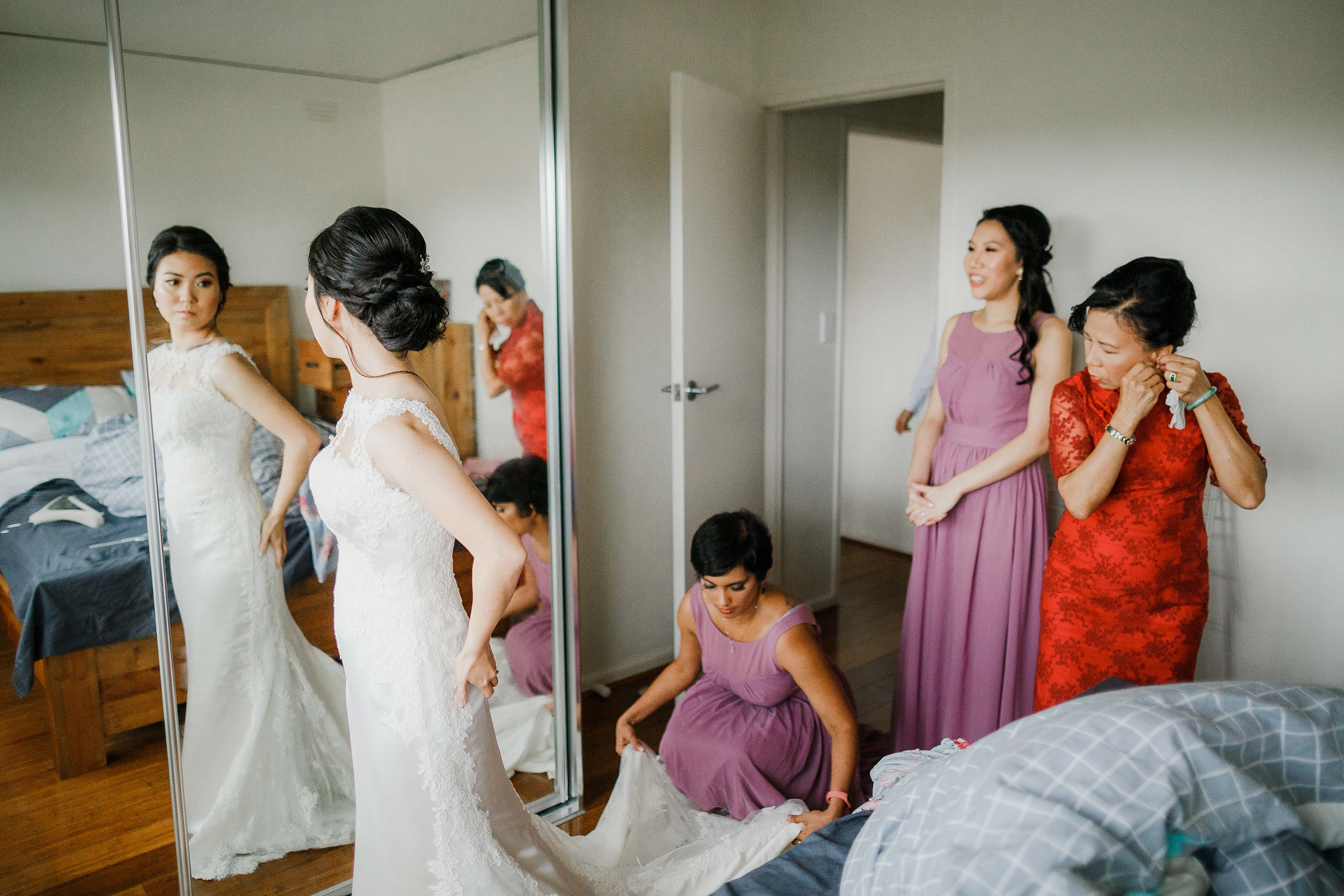 Melbourne-Richmond-Glasshaus-Wedding-getting-ready-bride-dress