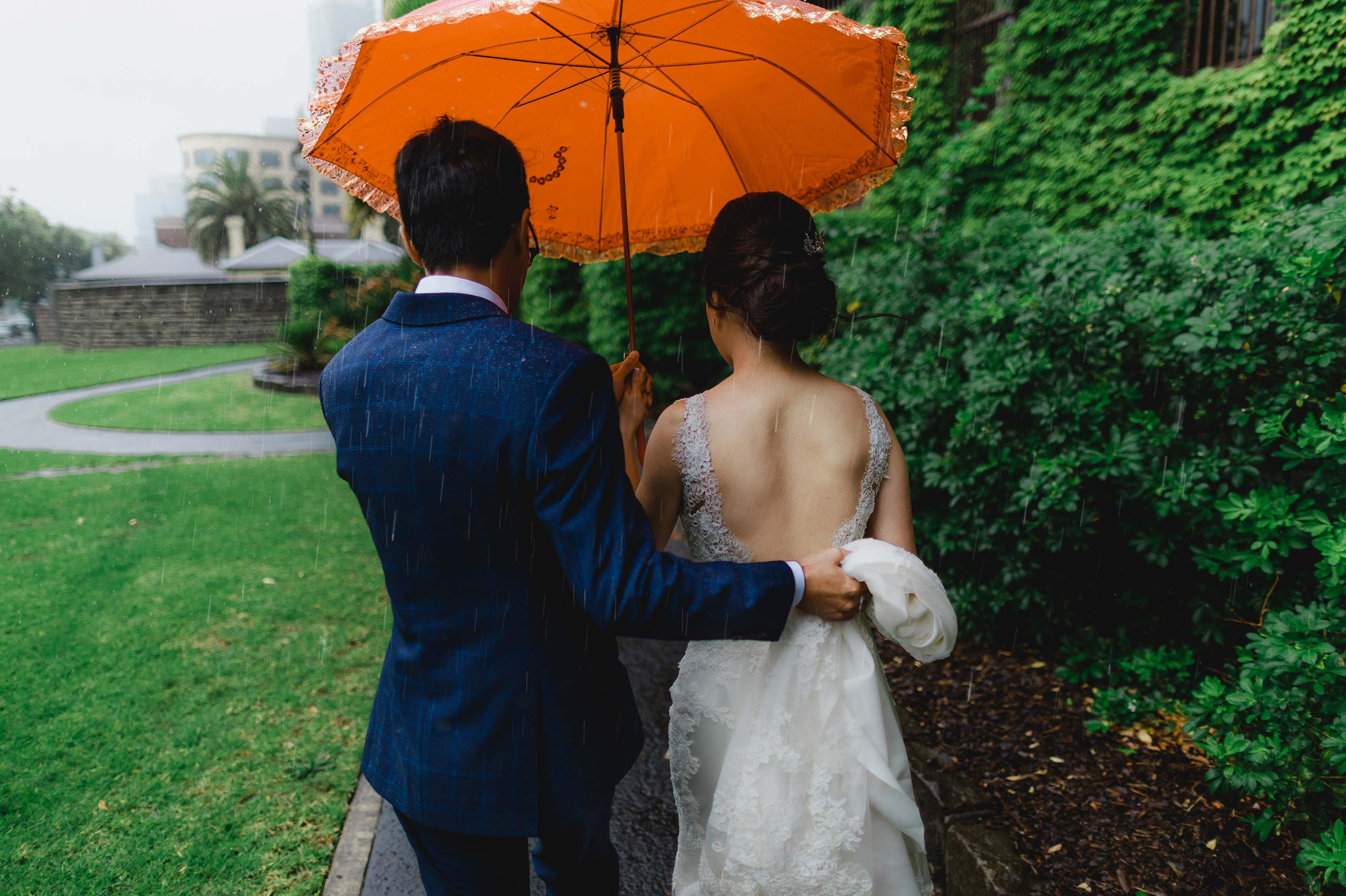 Melbourne-Botanical-Gardens-House-Wedding-Ceremony-rain