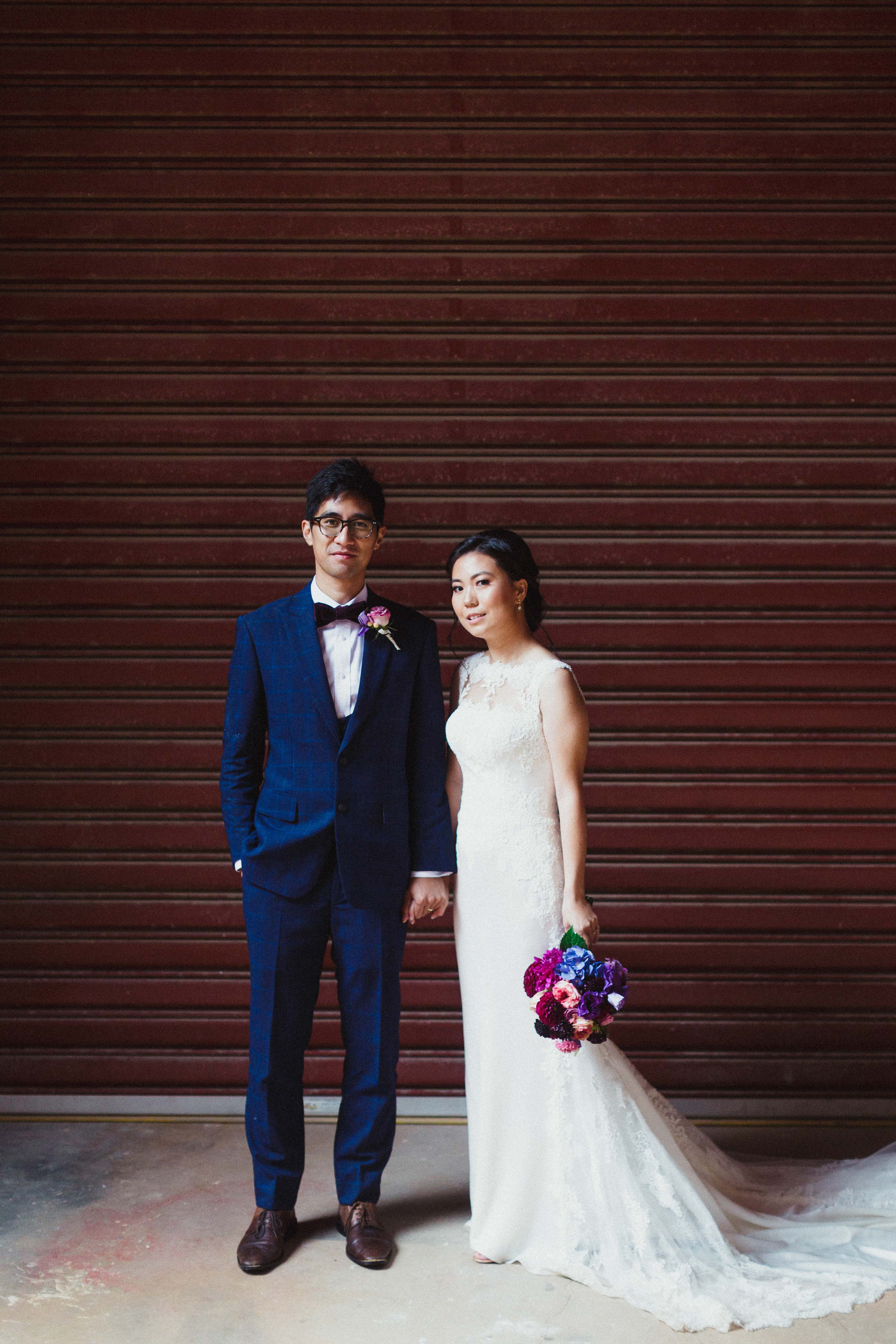 Melbourne-Richmond-Glasshaus-Wedding-bride-groom-portrait