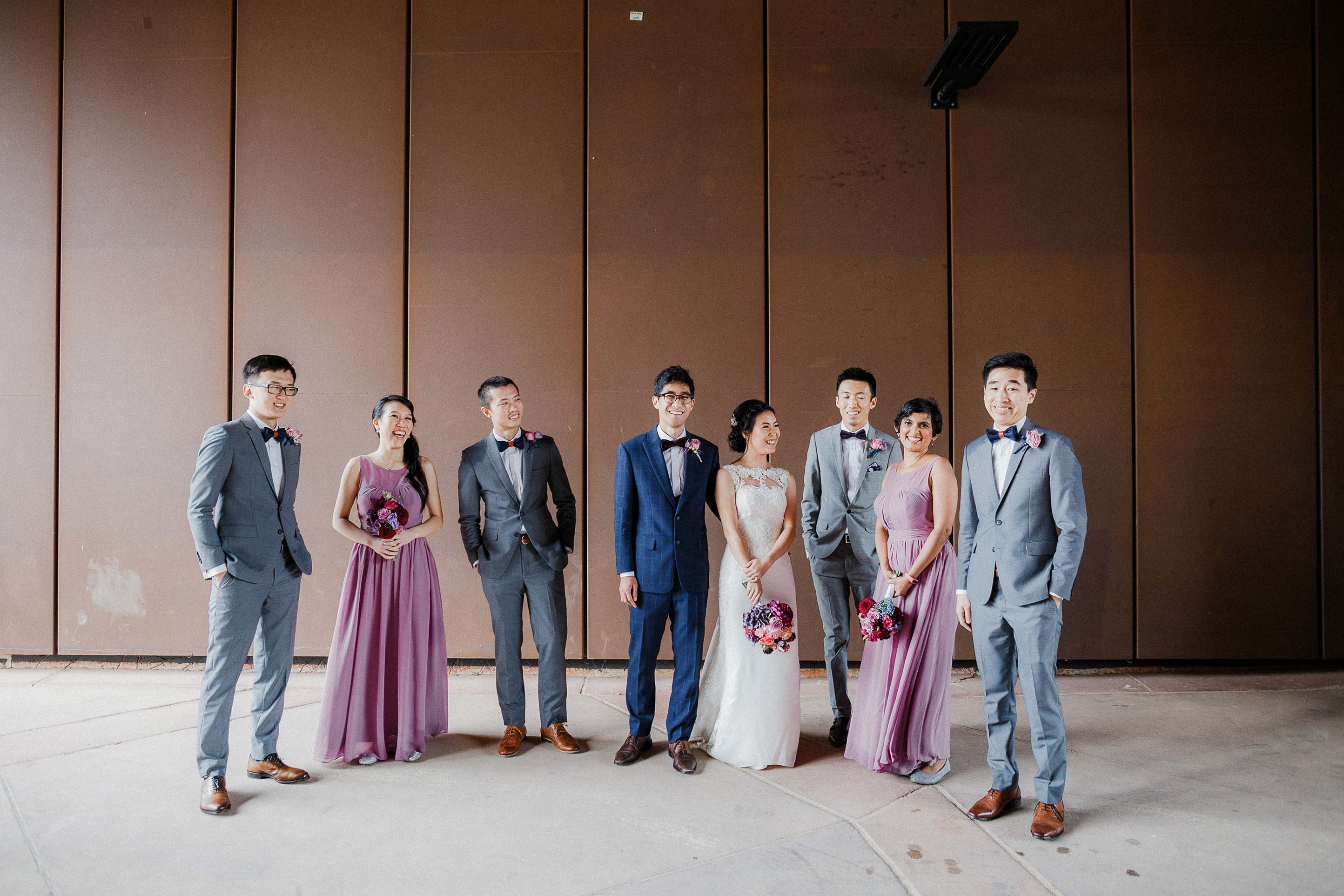 Melbourne-Richmond-Glasshaus-Wedding-bridal-party-portrait